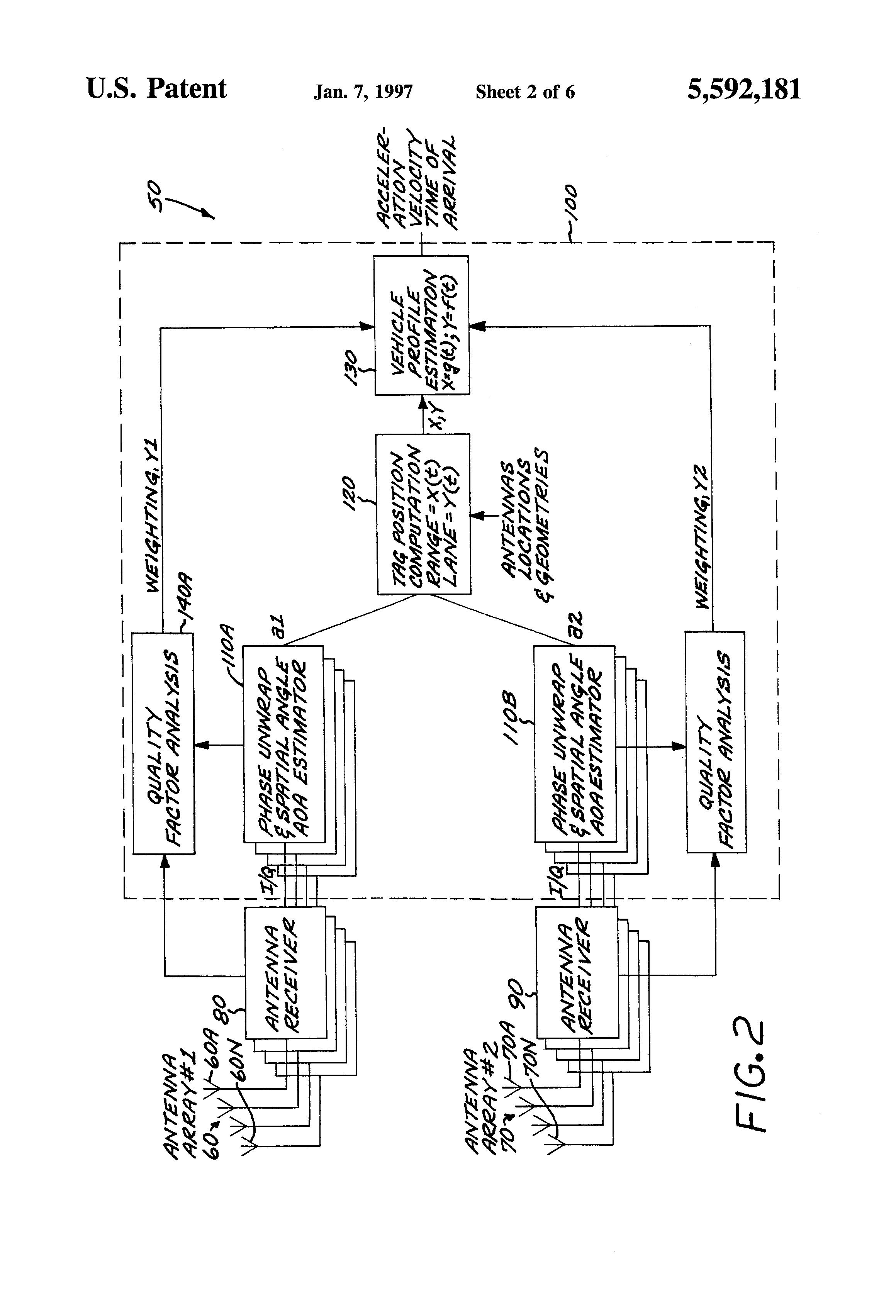 Patent Us5592181 Vehicle Position Tracking Technique Google Patents Radar Transponder Circuit Diagram Tradeoficcom Drawing