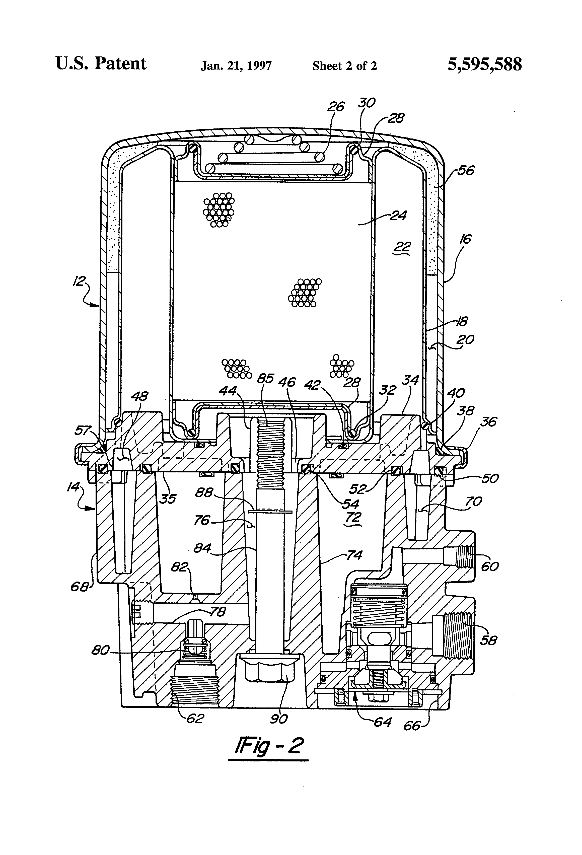 Patent Us5595588 Air Dryer Cartridge Mounting System