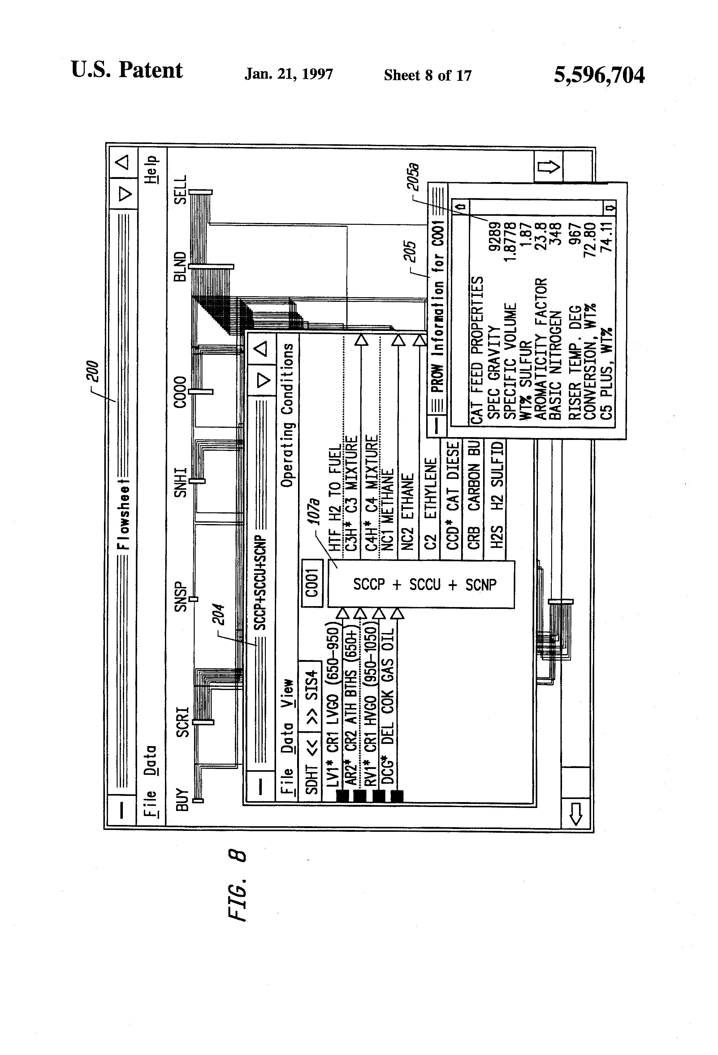 patent us5596704 - process flow diagram generator