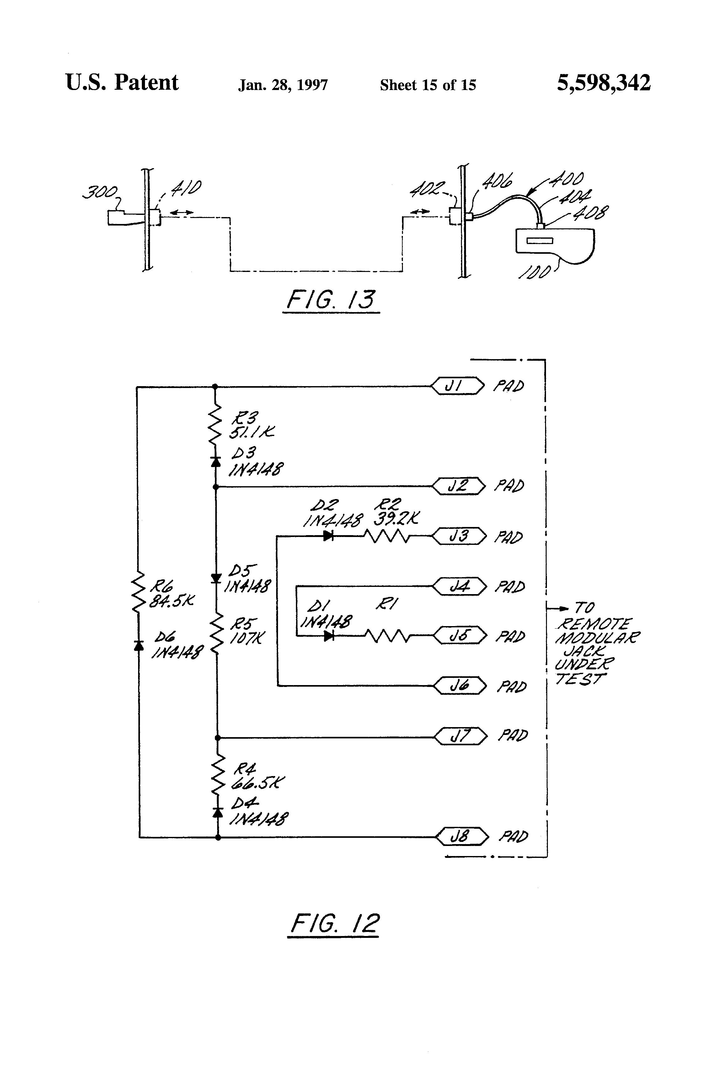 Cdt Wiring Diagram List Of Schematic Circuit M101 Trailer Patente Us5598342 Cable Tester Google Patentes Rh Es
