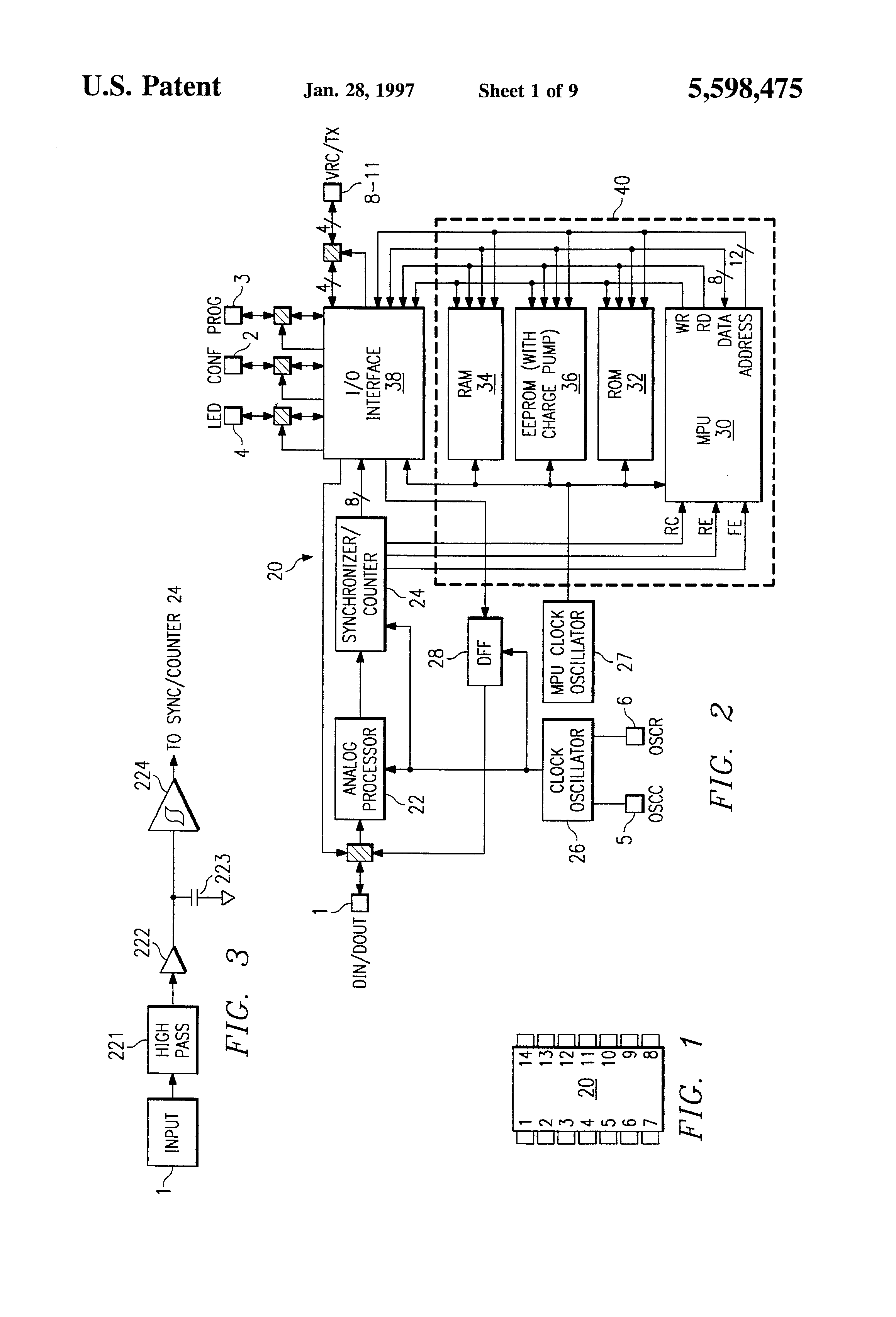 Patent Us5598475 Rolling Code Identification Scheme For Remote Rc Buffer Circuit Design In Switching Power Supply Appliance Ic Drawing