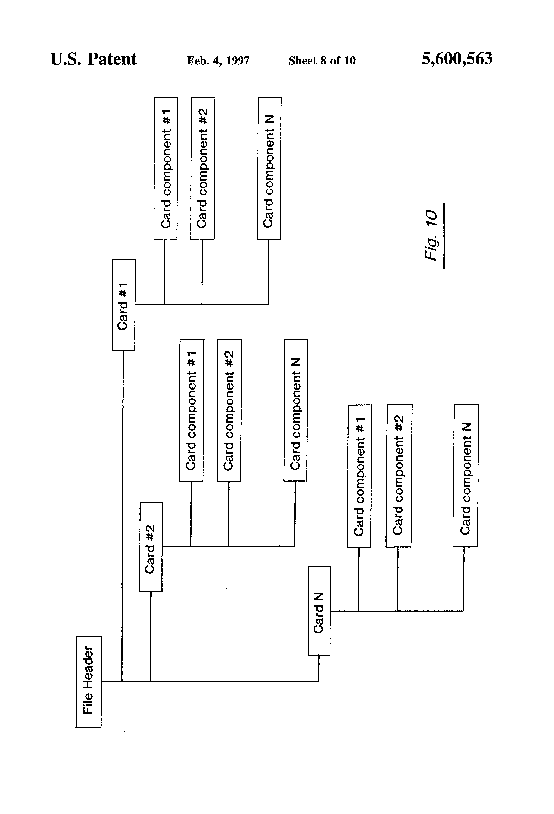 Patent Us5600563 System For Printing Social Expression Cards
