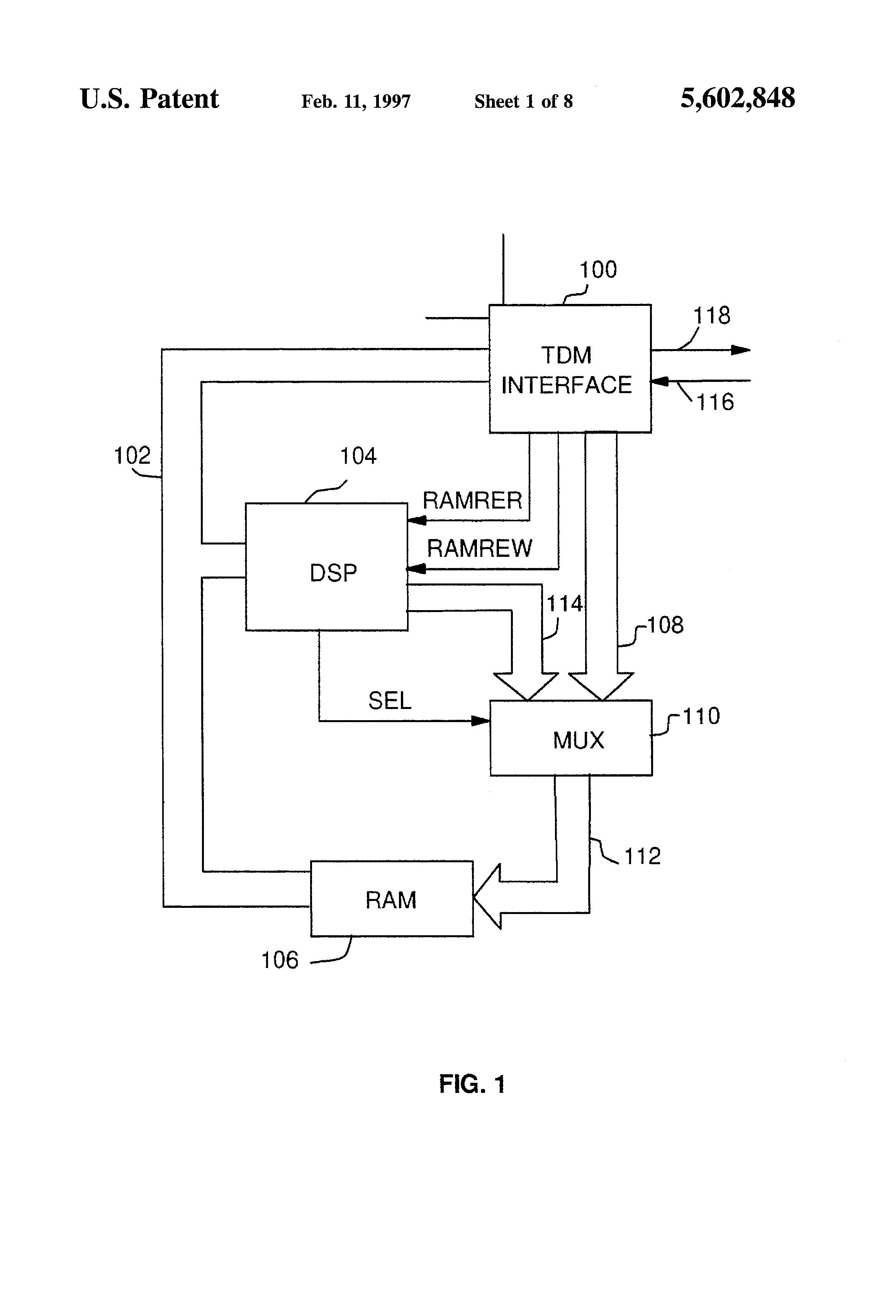 Tdm Circuit Diagram | Patent Us5602848 Multi Mode Tdm Interface Circuit Google Patents