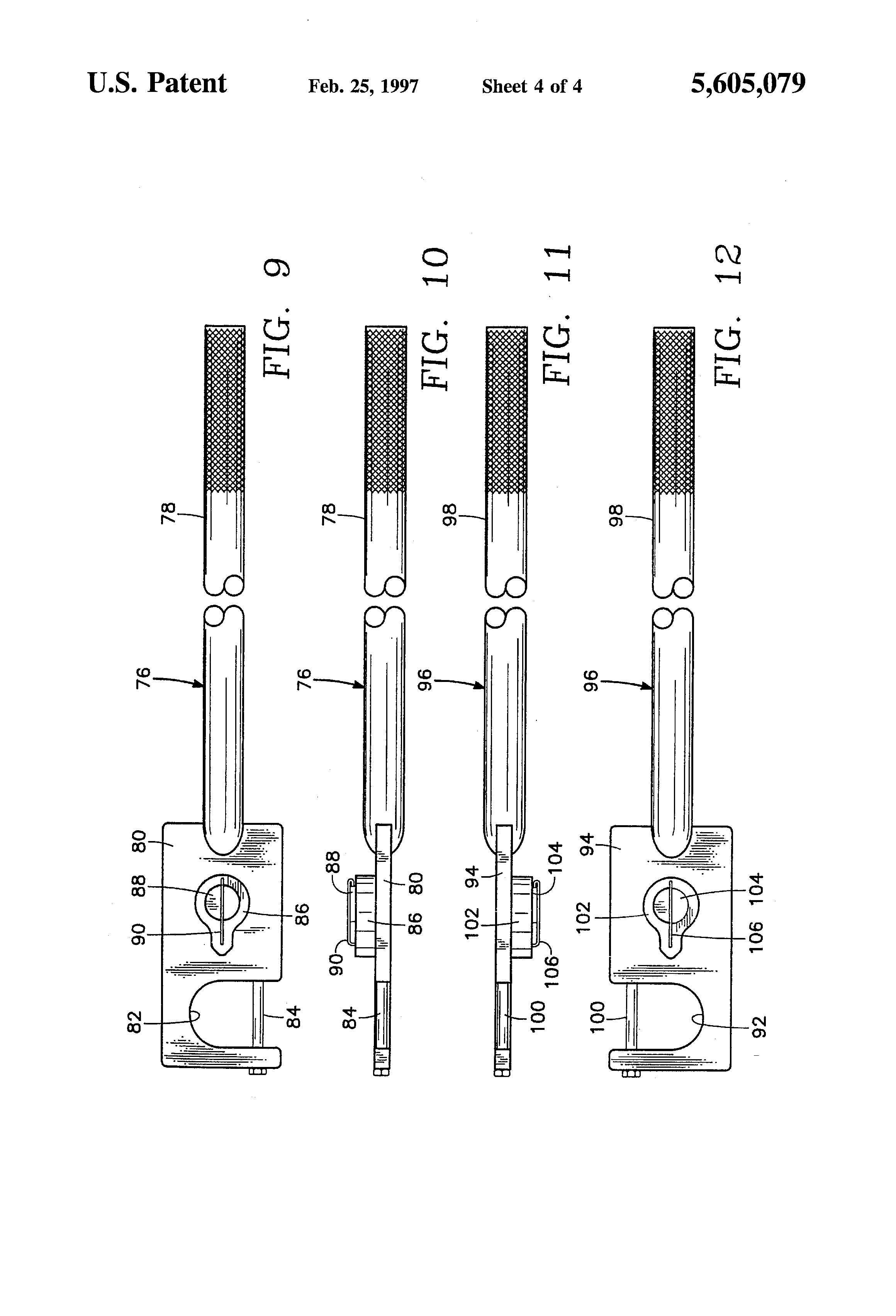 Patent Us5605079 Torsion Spring Tensioning Tool Google
