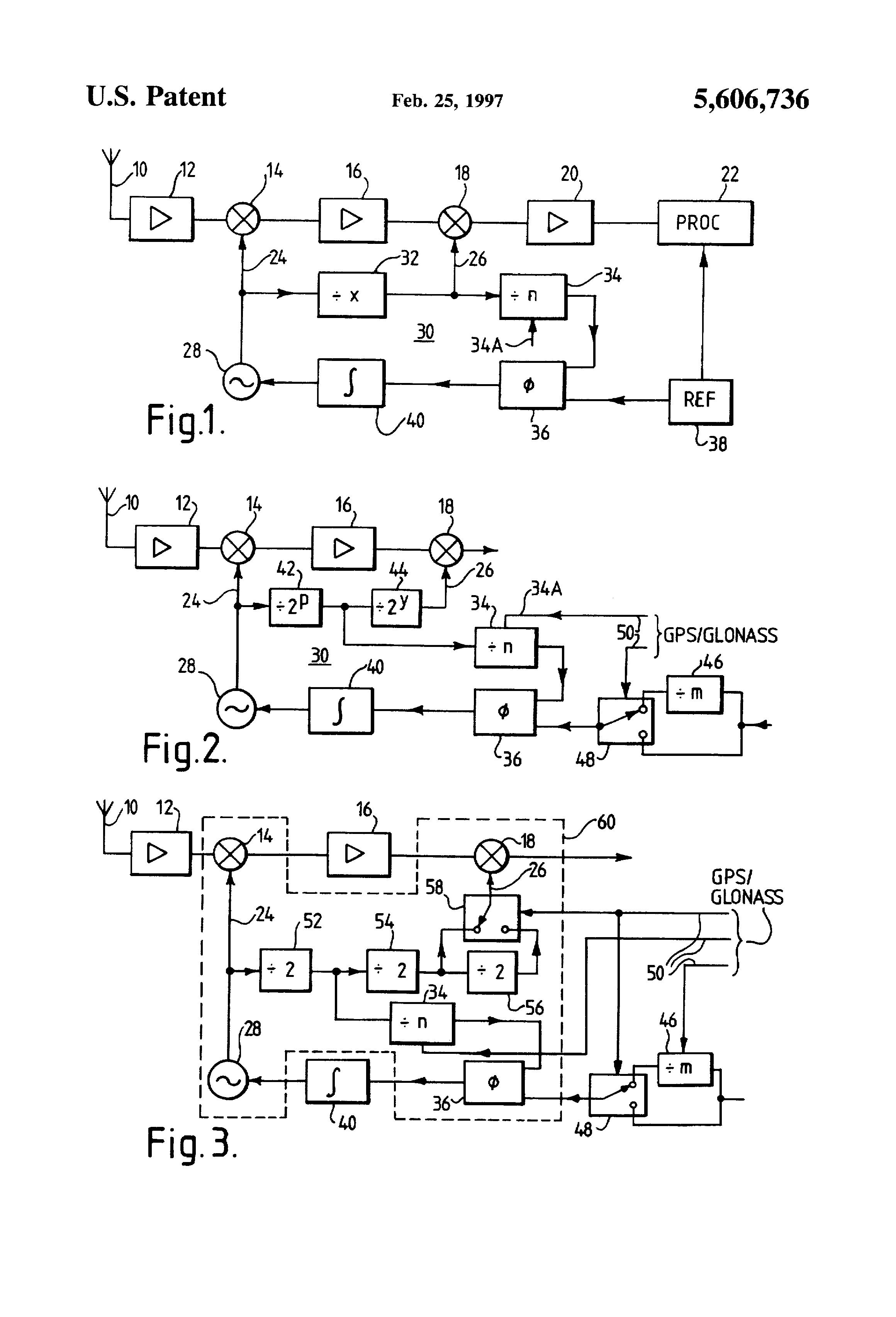 Patent US5606736 - Heterodyne radio receiver with plural