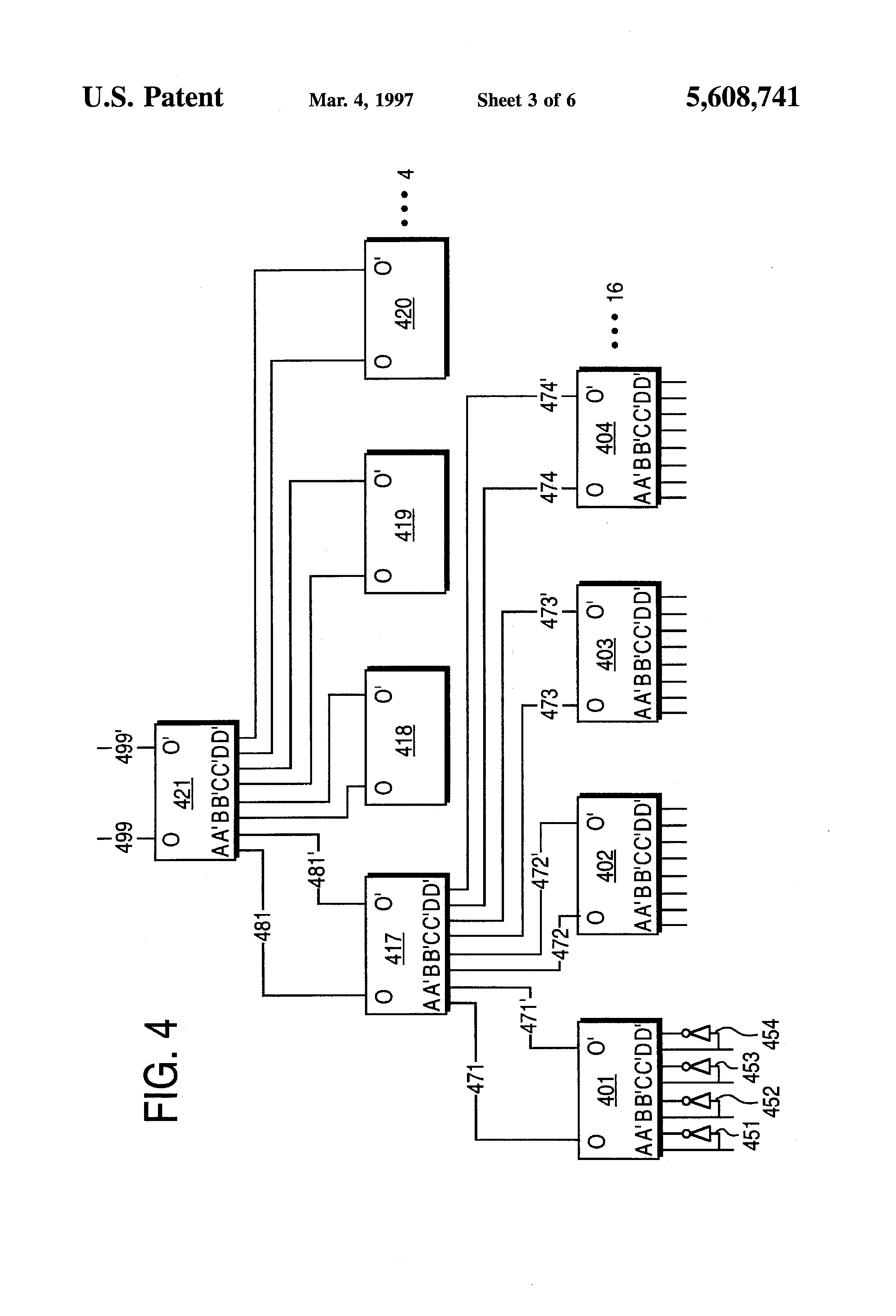 patent us5608741 - fast parity generator using complement pass-transistor logic