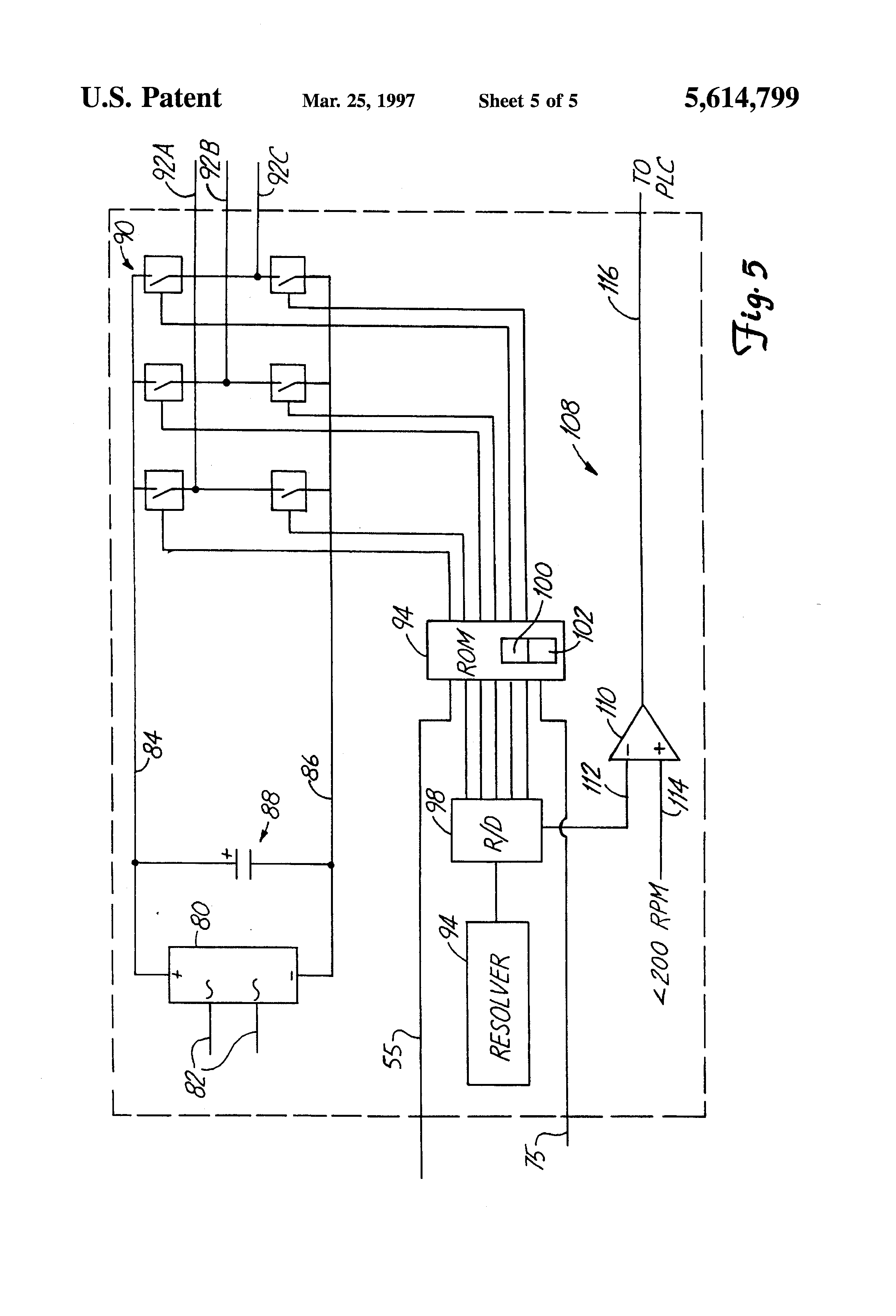 Patent Us5614799 Brushless Direct Current Motor Having