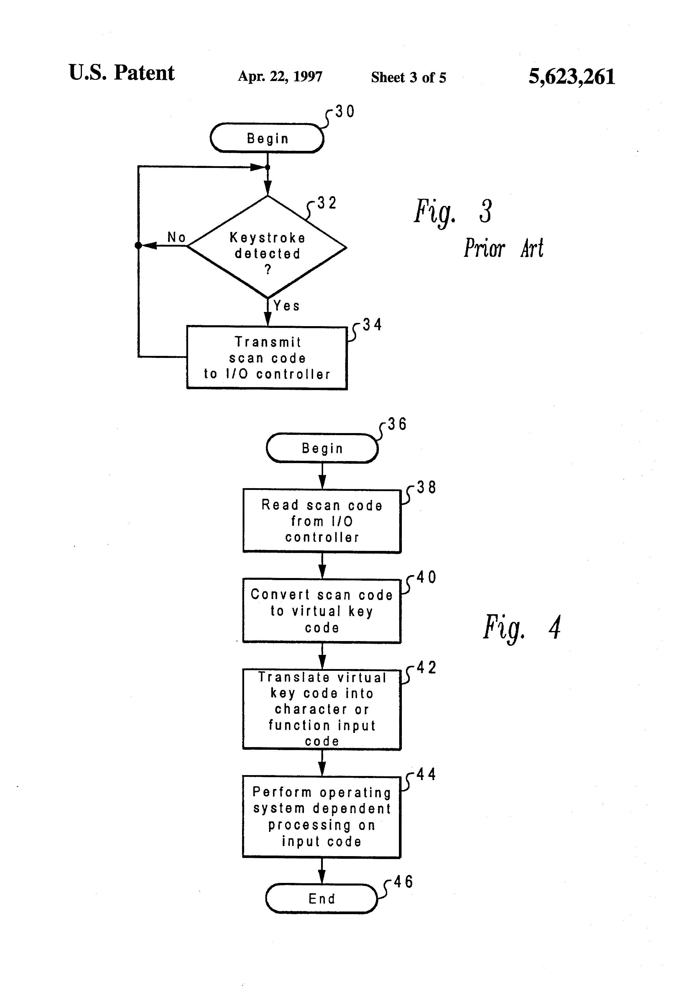 براءة الاختراع US5623261 - Method and system for translating keyed