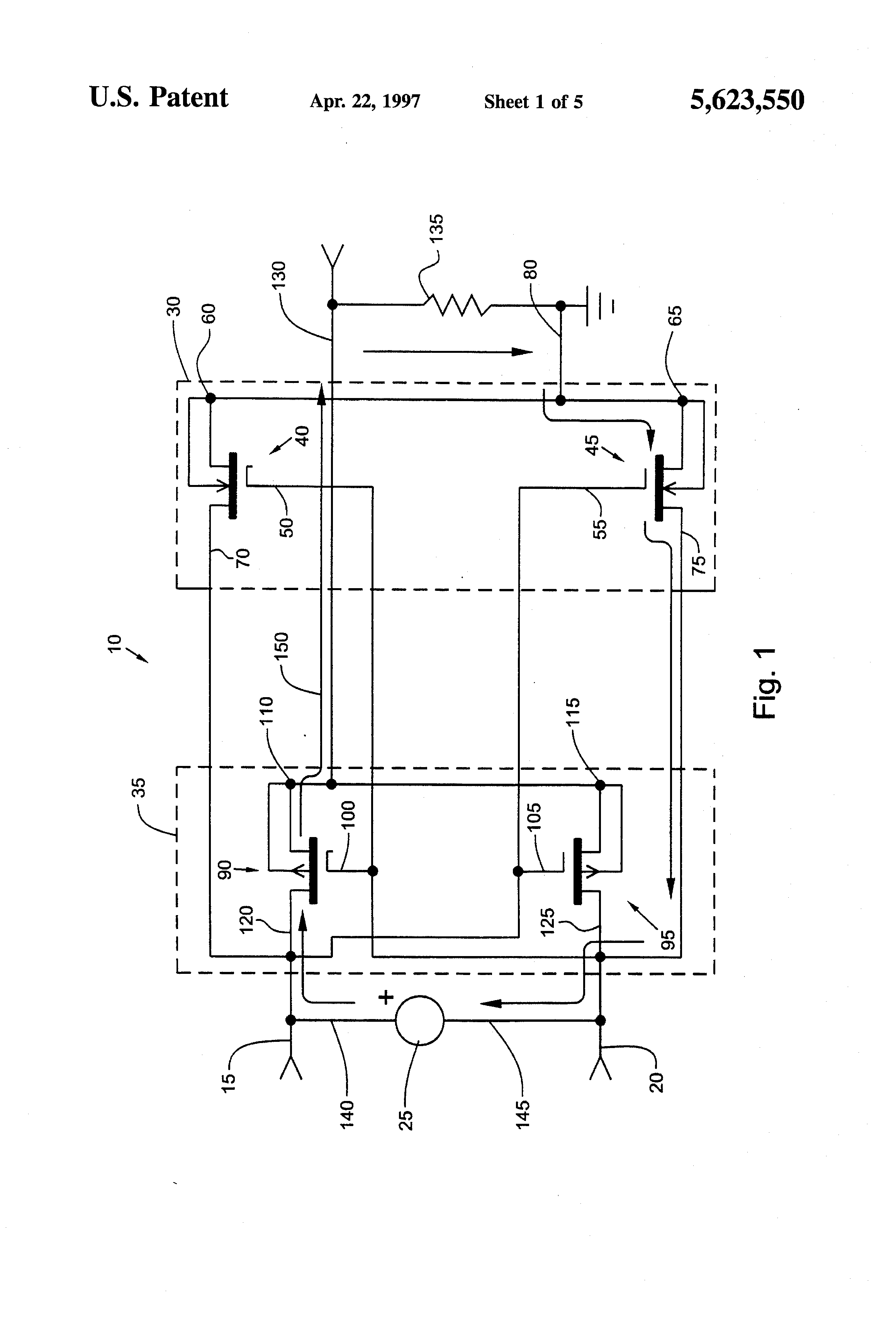 Patent Us5623550 Battery Power Supply Circuit Which Supplies Lithium Ion Charger 2 Powersupplycircuit Drawing