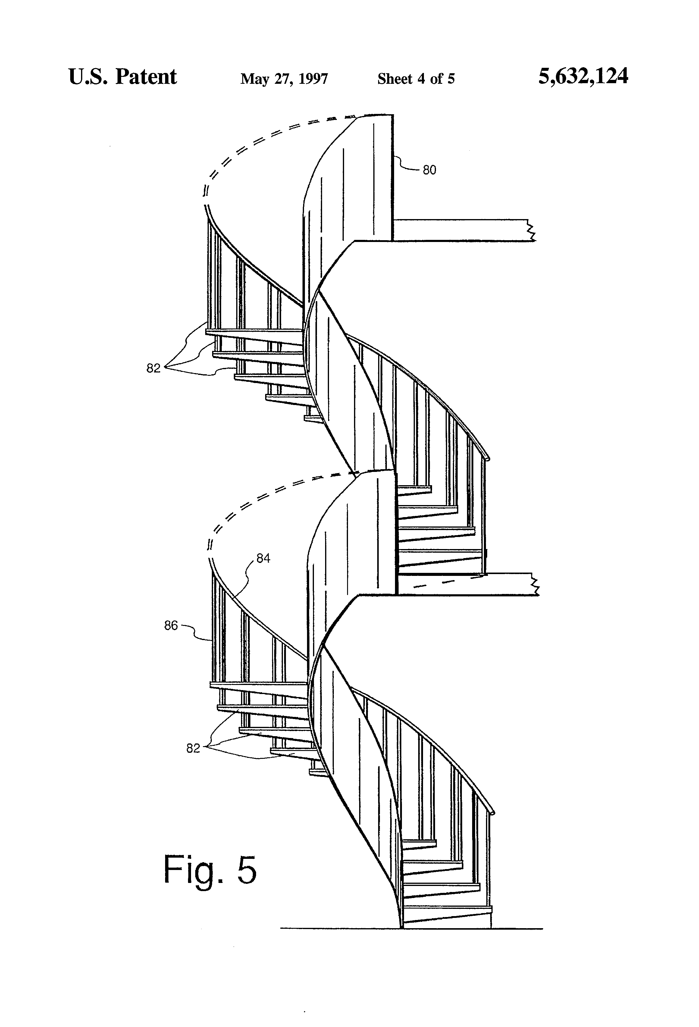 Patent US5632124 - Circular stairway and method of making ...