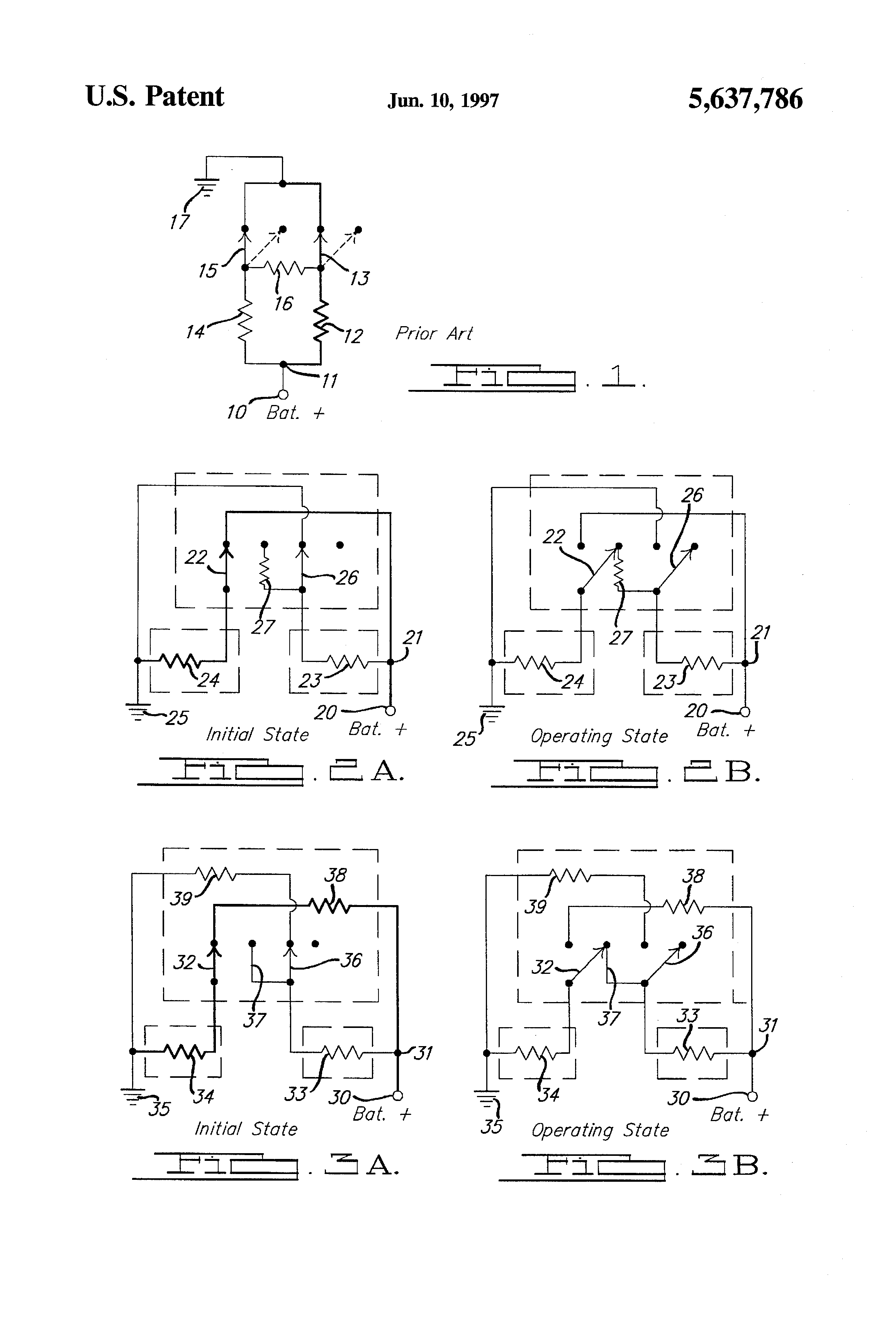 Patent Us5637786 Series Parallel Heated Oxygen Sensor Heater Schematic Drawing