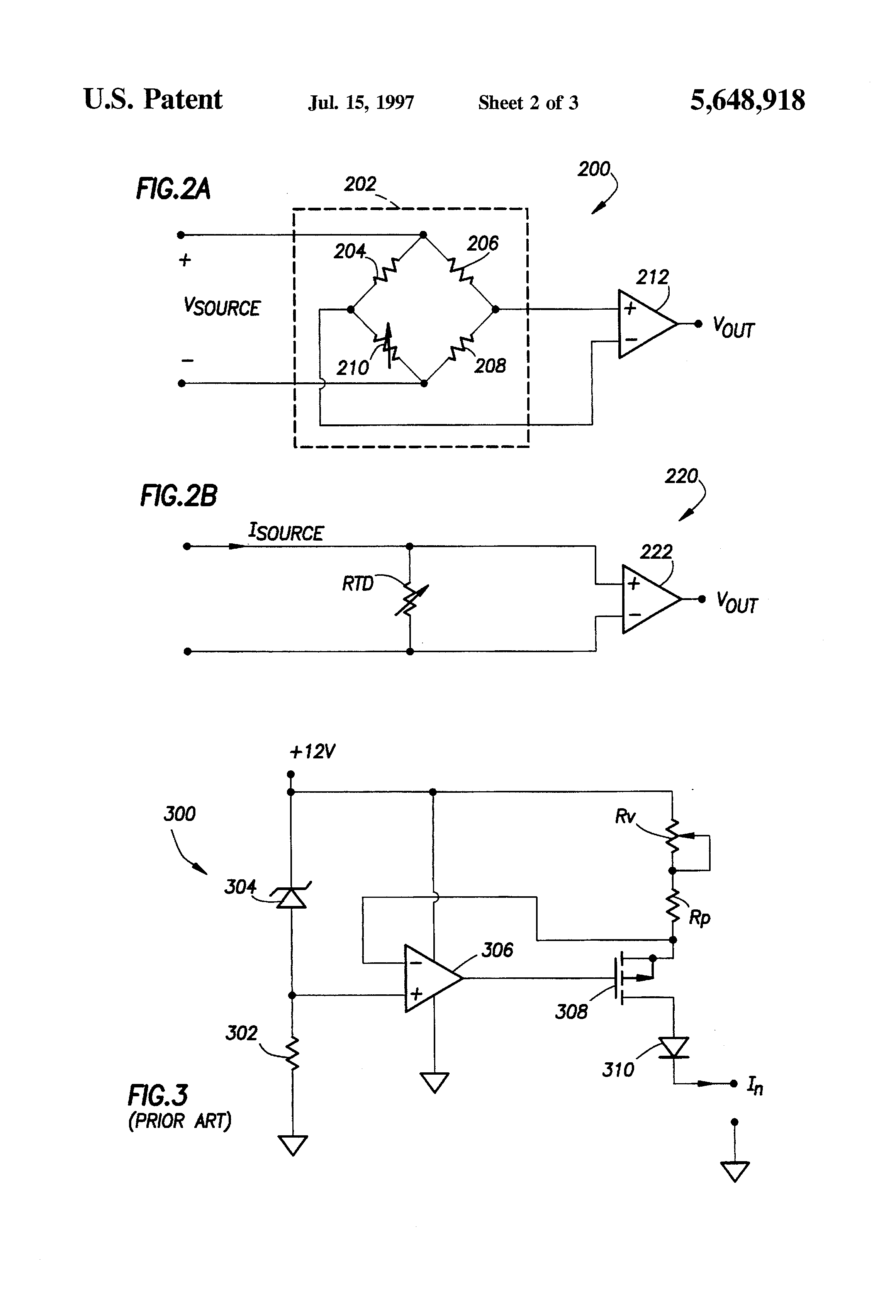 Patent Us5648918 Calibration Of A Plurality Excitation Sources Variable Resistor Circuit Diagram Moreover Voltmeter Ammeter Schematic Drawing