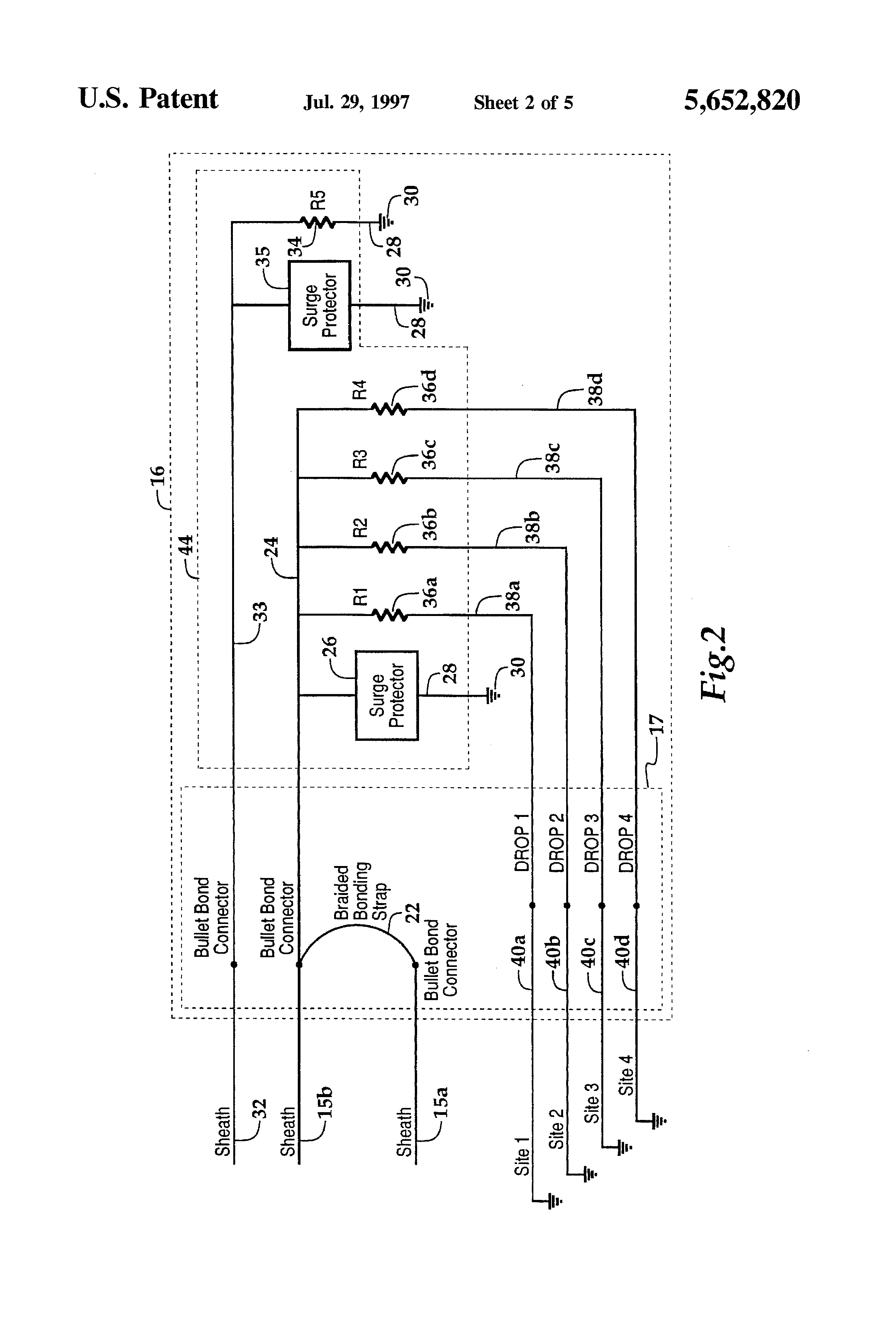 patent us fiber optic splice closure and protection  patent drawing