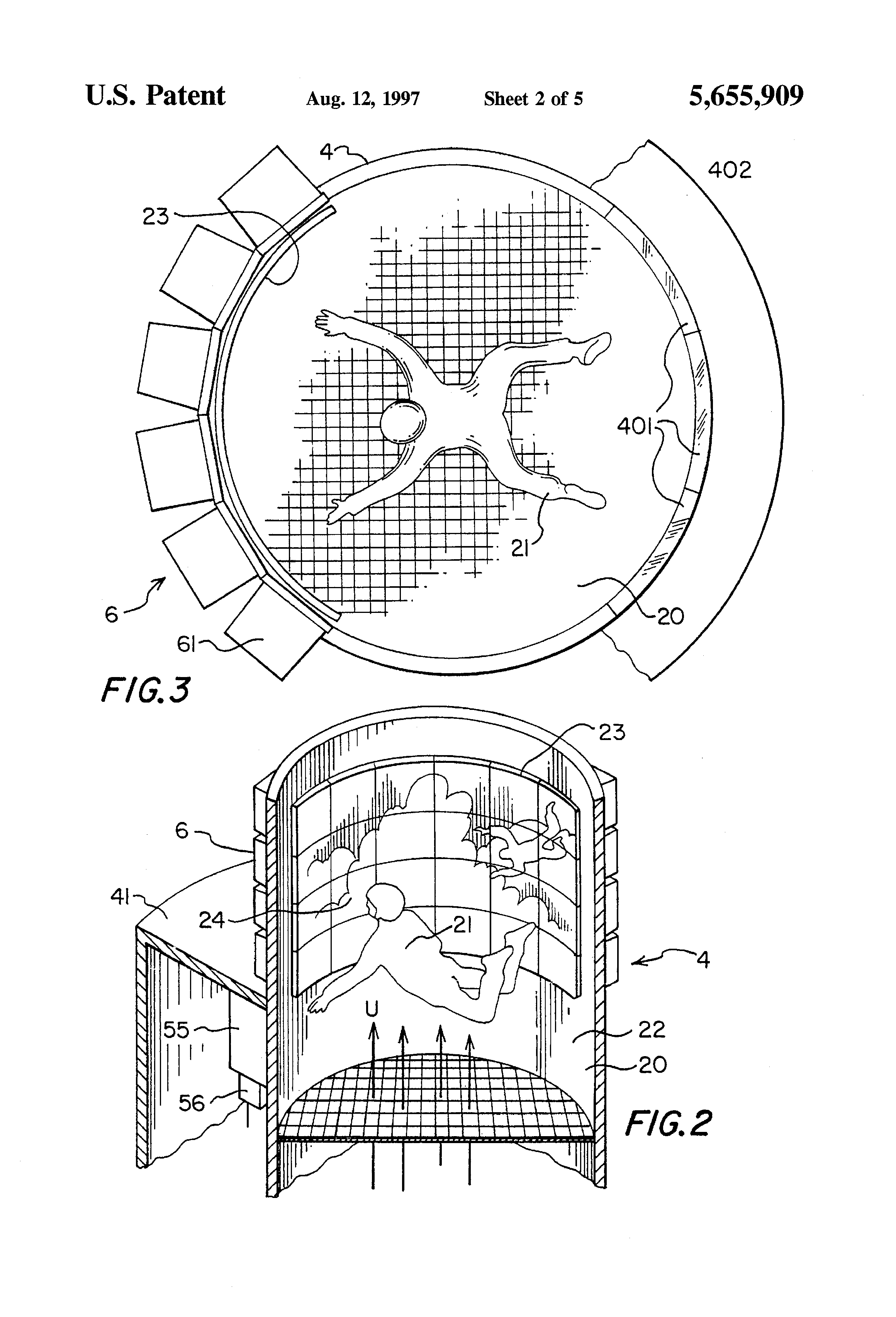 patent us5655909 - skydiving trainer windtunnel