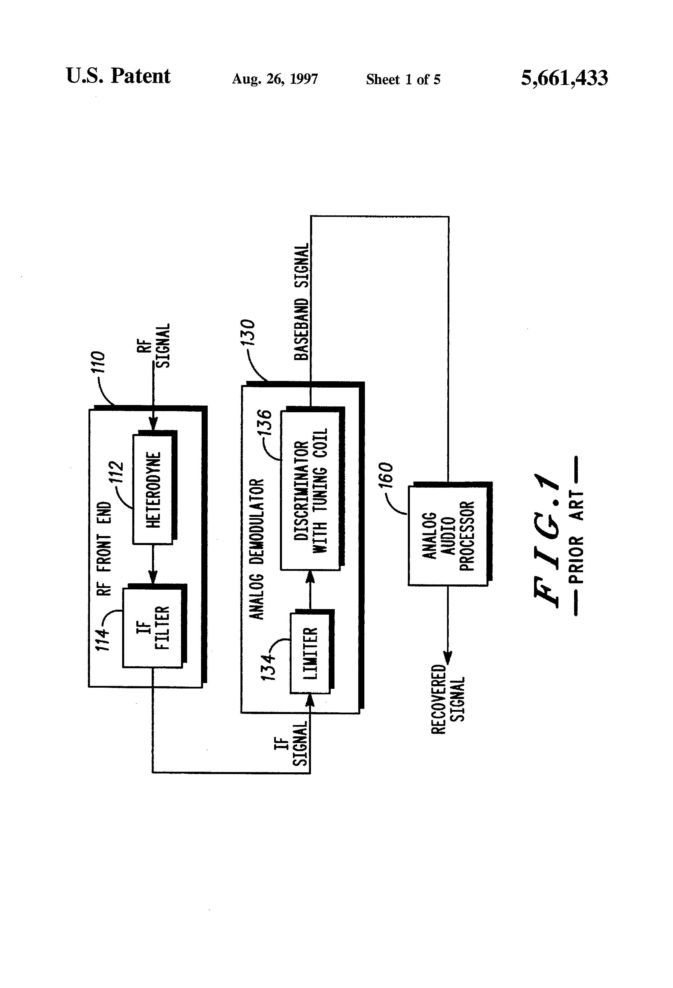 Patent Us5661433 Digital Fm Demodulator Google Patents F M Receiver Circuit Diagram Free Drawing