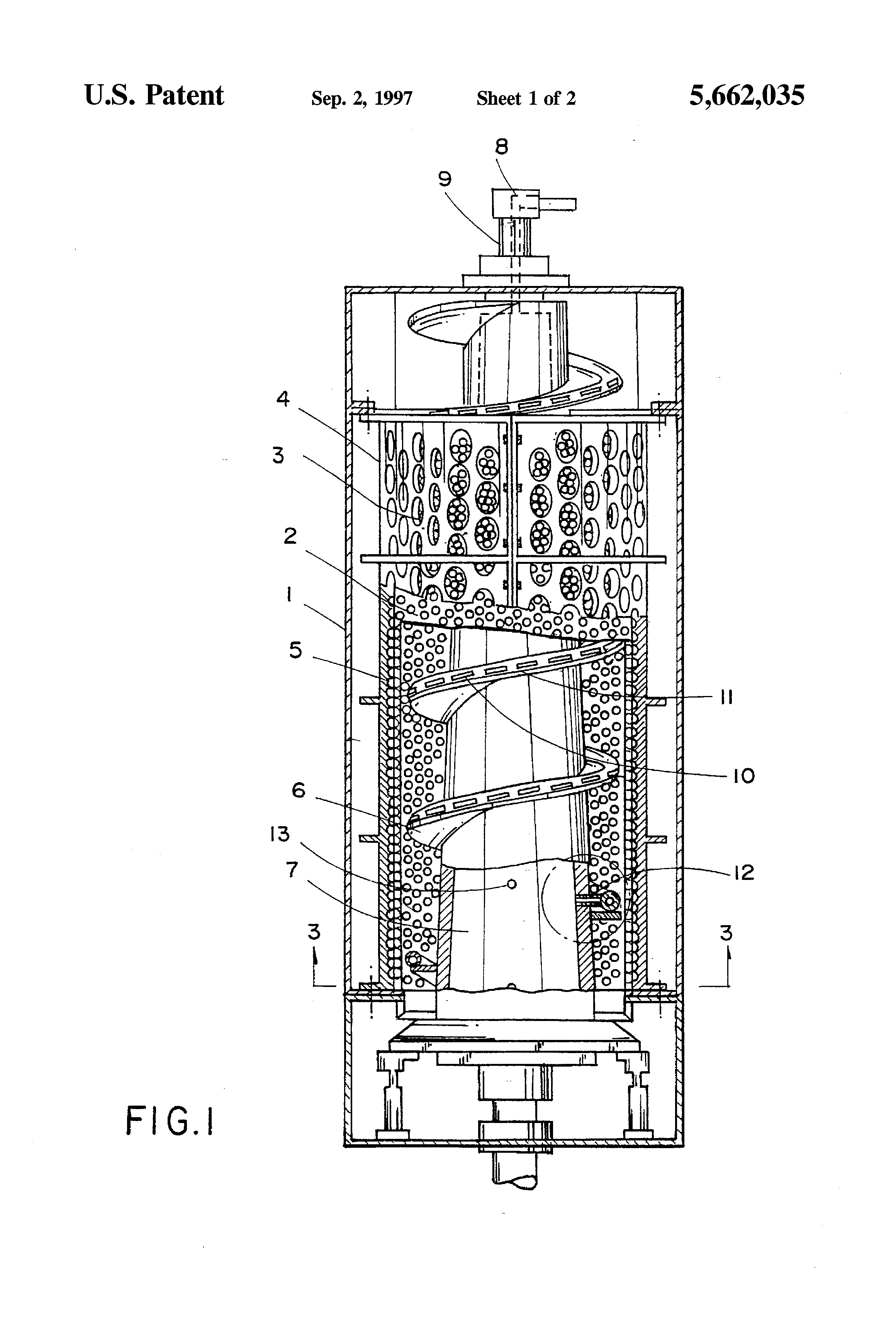 Patent US5662035 - Cleaning device of a screw press for