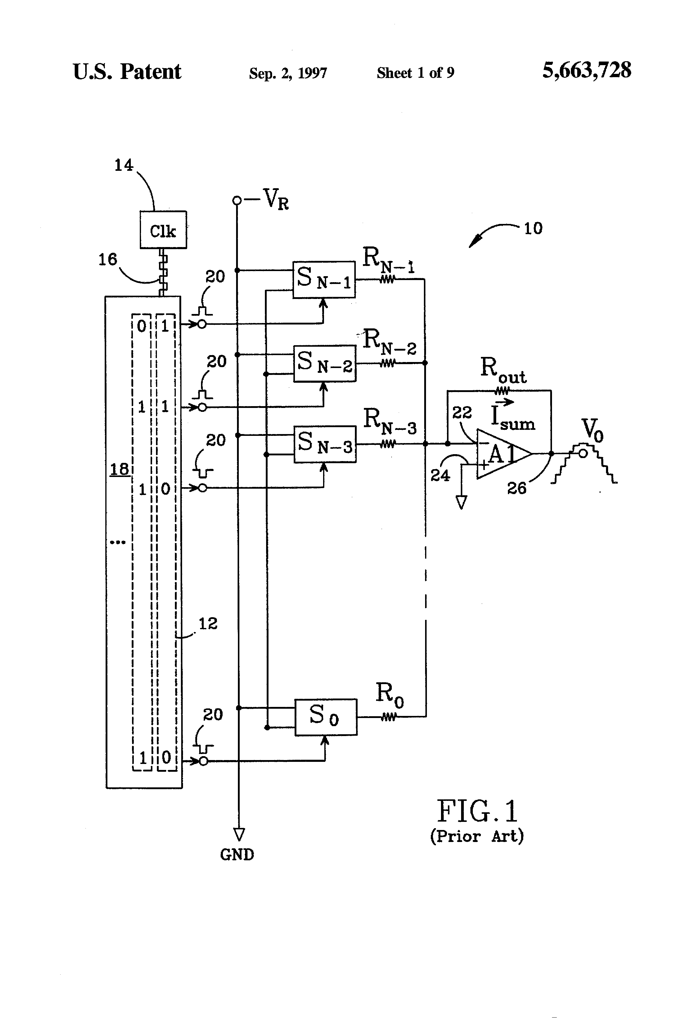 Patent Us5663728 Digital To Analog Converted Dac And Method That This Digitaltoanalog Converter Integrated Circuit Is Designed Drawing