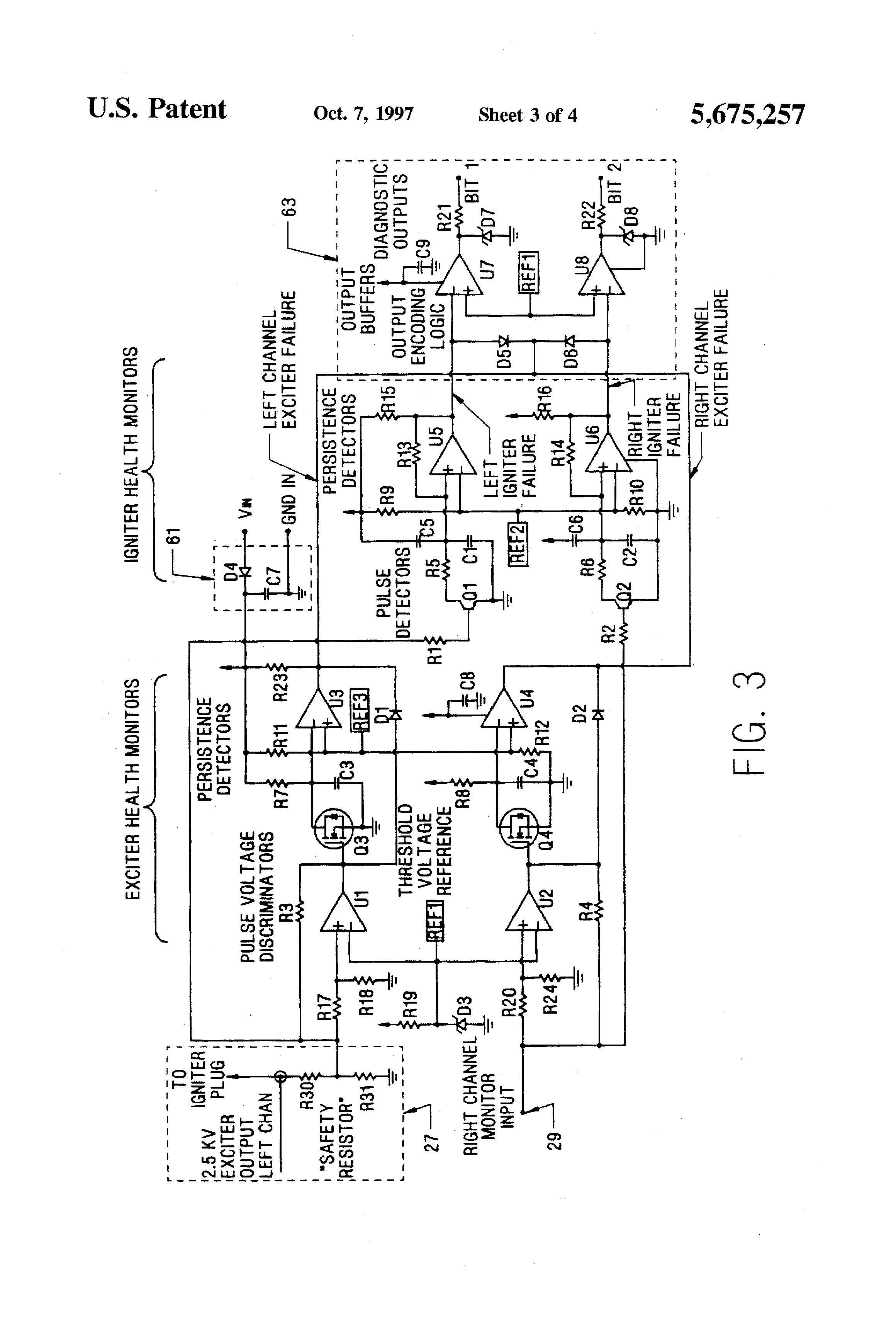 Patent US5675257 - Diagnostic device for gas turbine