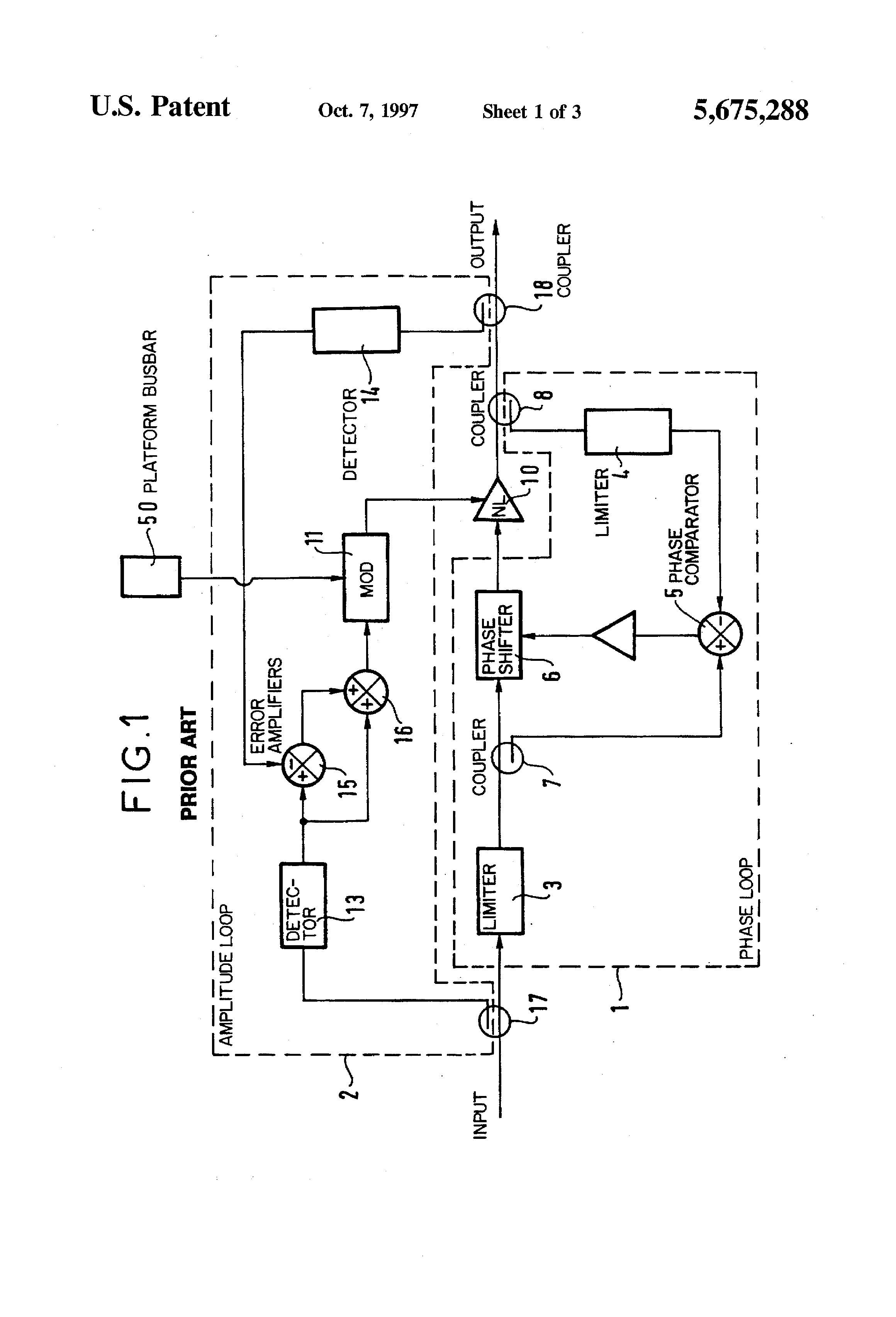 Brevet US5675288 - Method of linearizing a non-linear amplifier