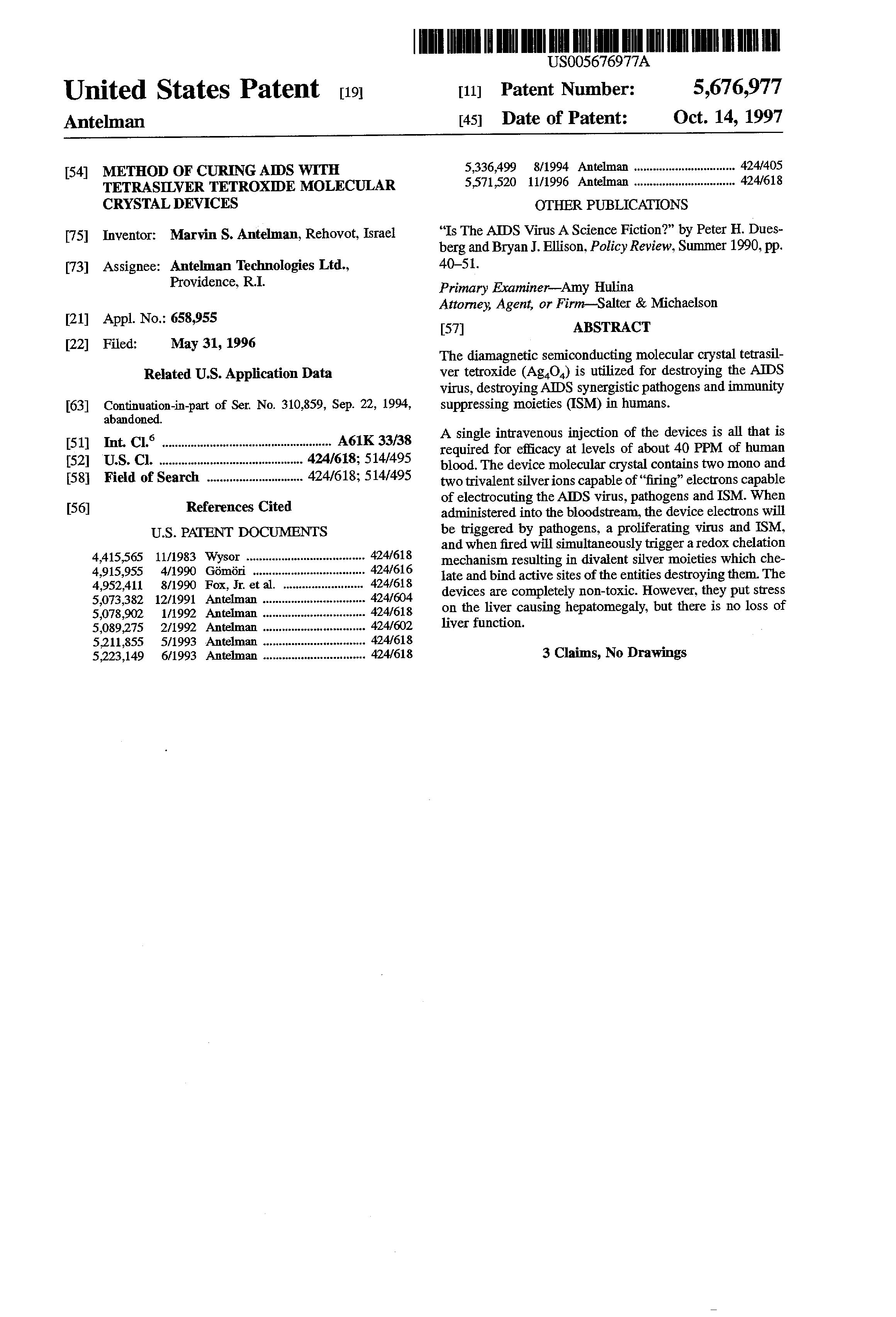 Us-Patent 5676977