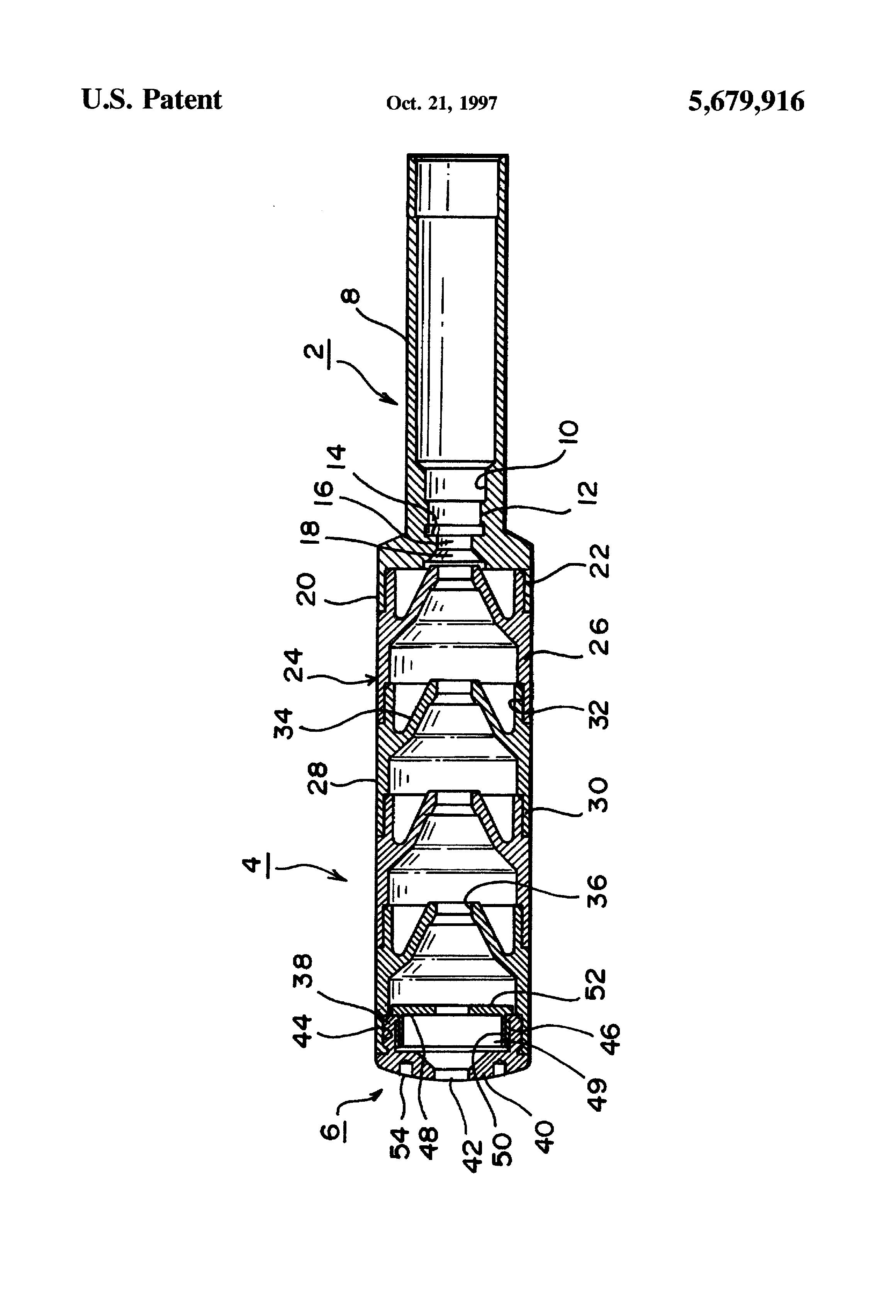 patent us5679916 - gun silencer