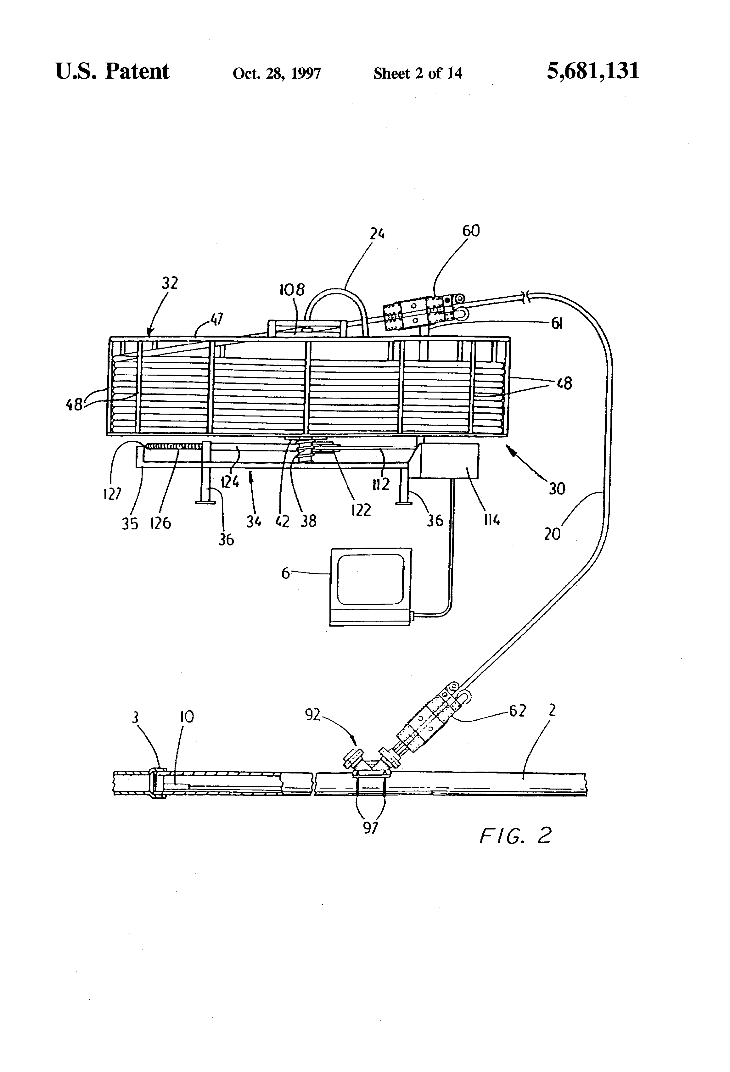 Patent Us5681131 Cable Feeding System And Umbilical