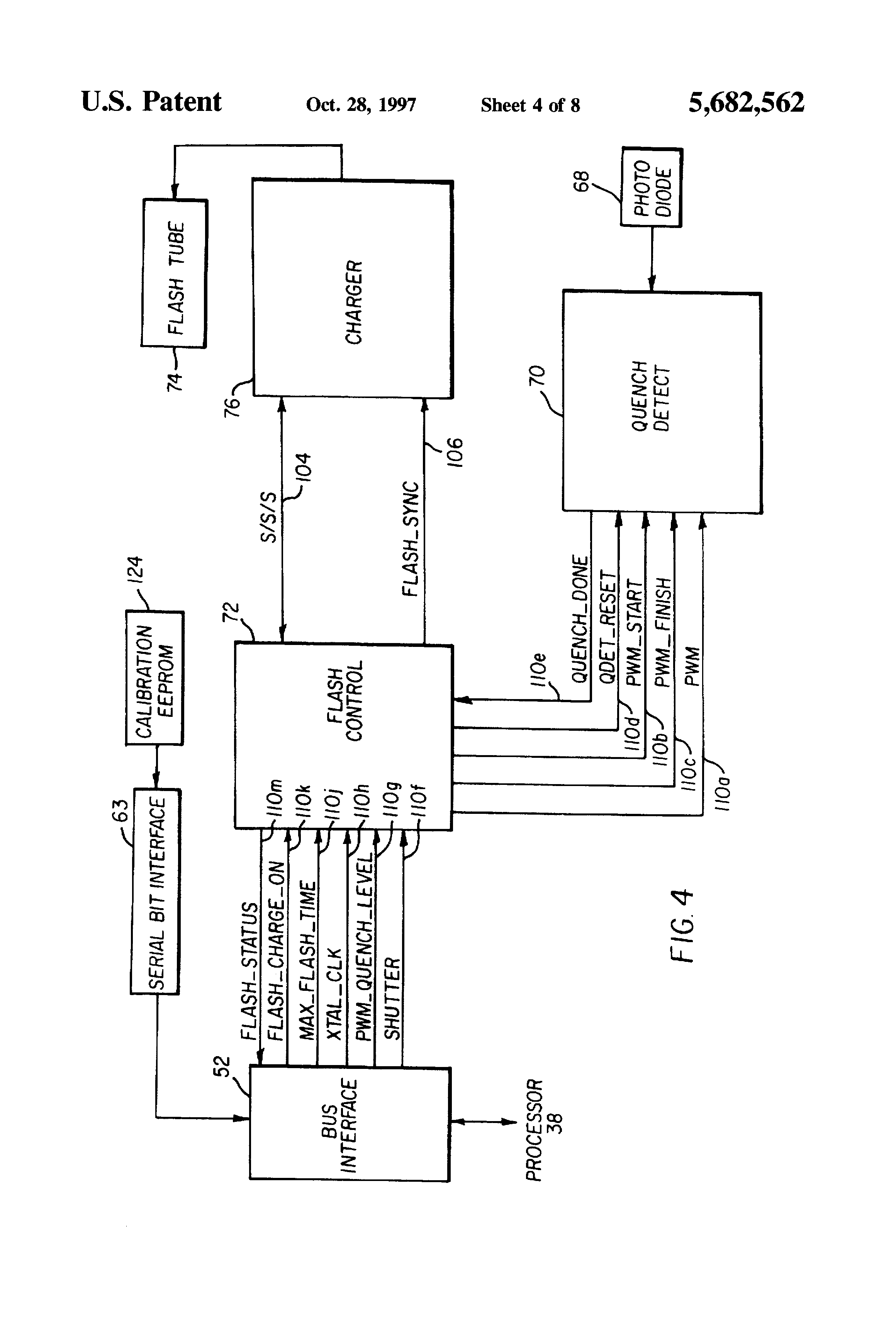 Flash Tube Circuit Capacitor Patent Us5682562 Digitally Controlled Quench Drawing