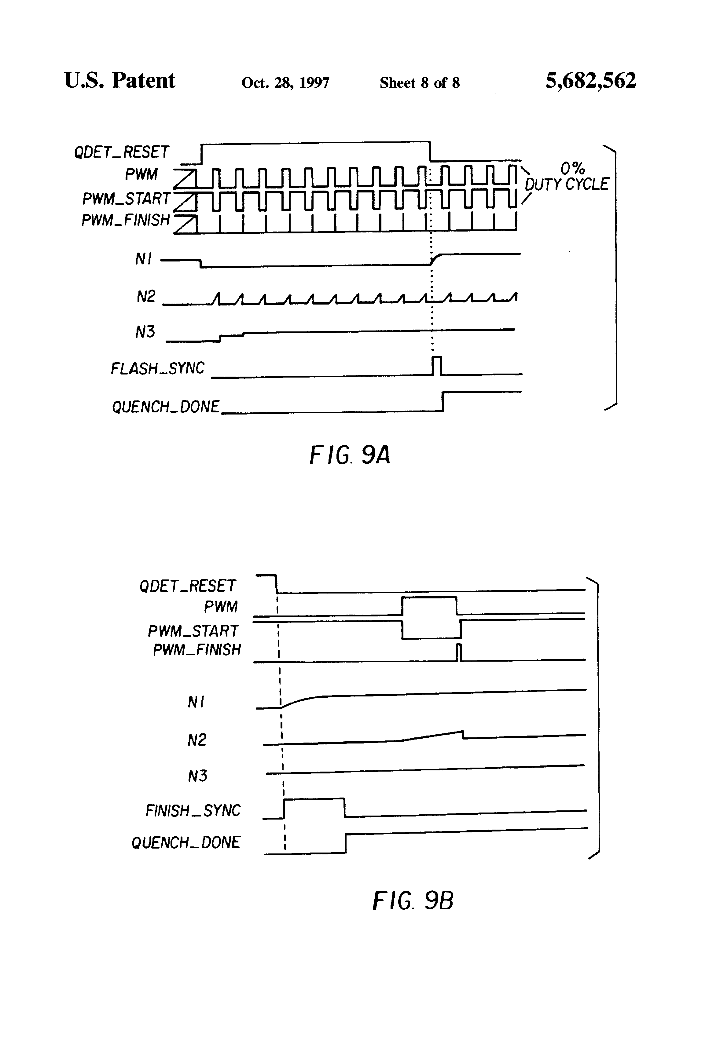 Patent Us5682562 Digitally Controlled Quench Flash Circuit Tube Capacitor Drawing