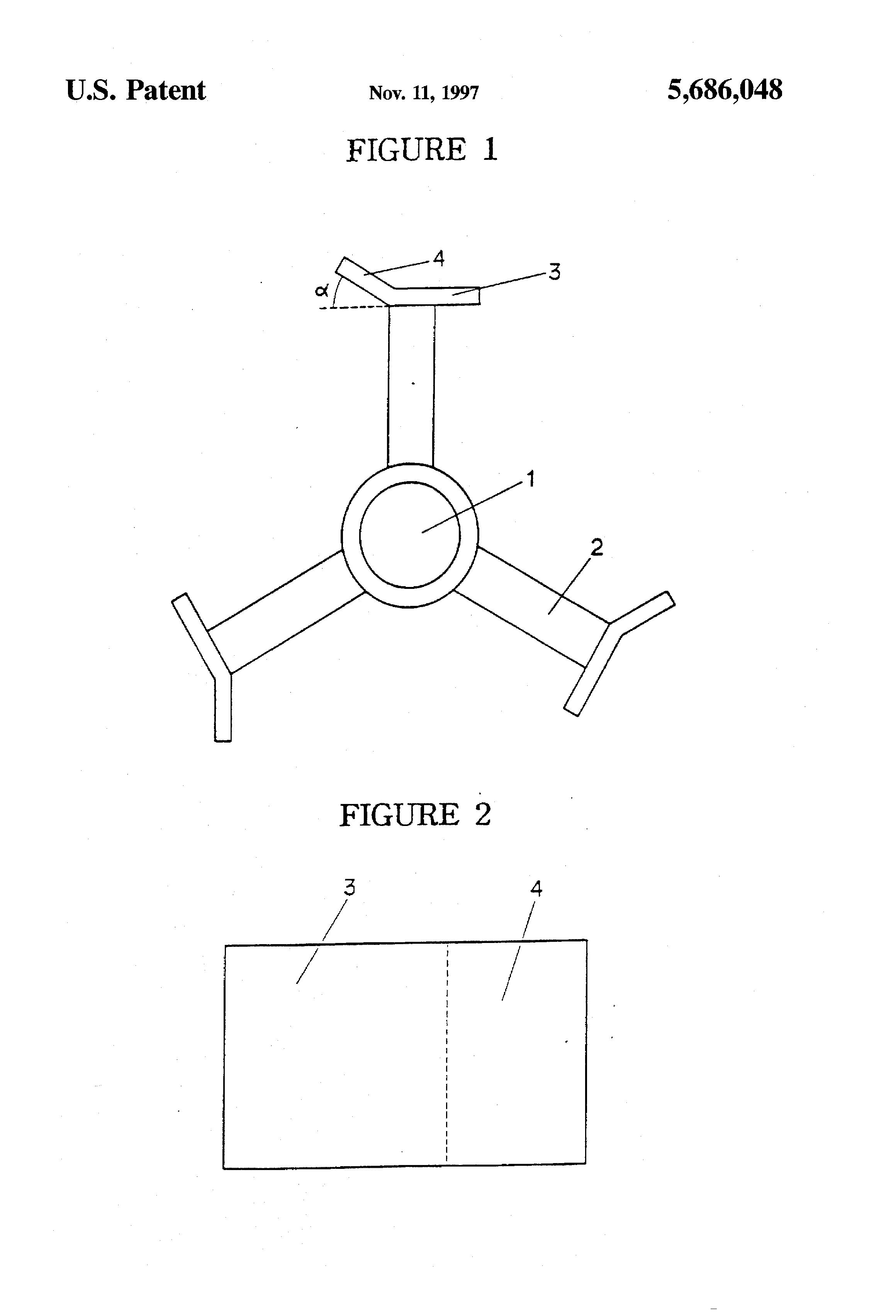 Patent US5686048 - Agitator for suspension polymerization of vinyl