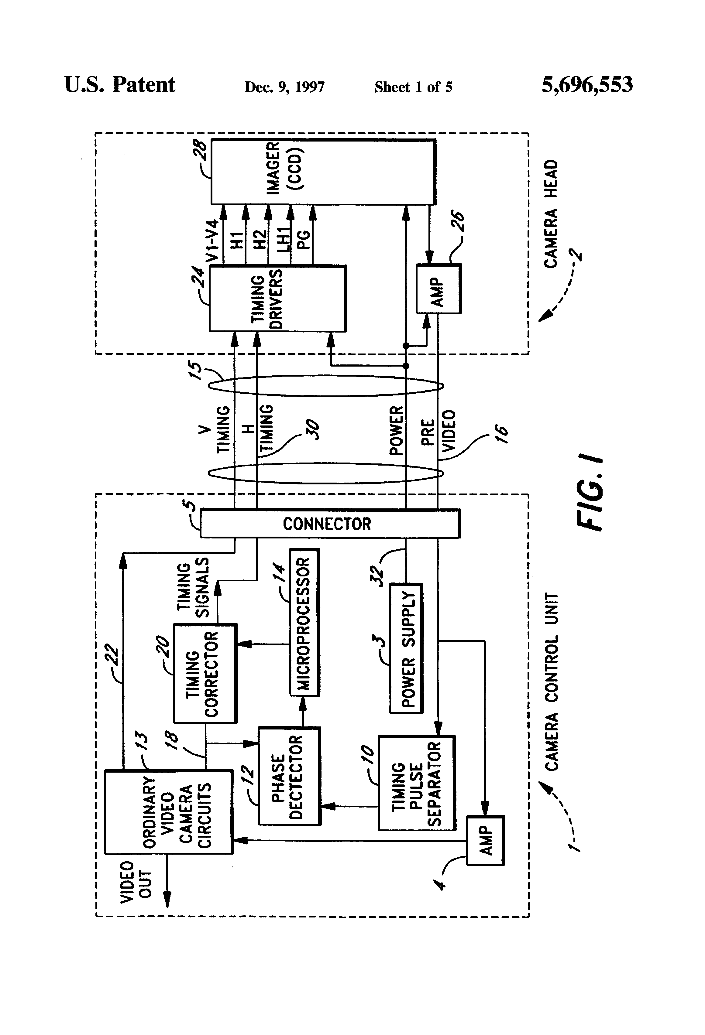 Patent Us5696553 Remote Imager Video Camera Cable Compensation Circuit Diagram Drawing