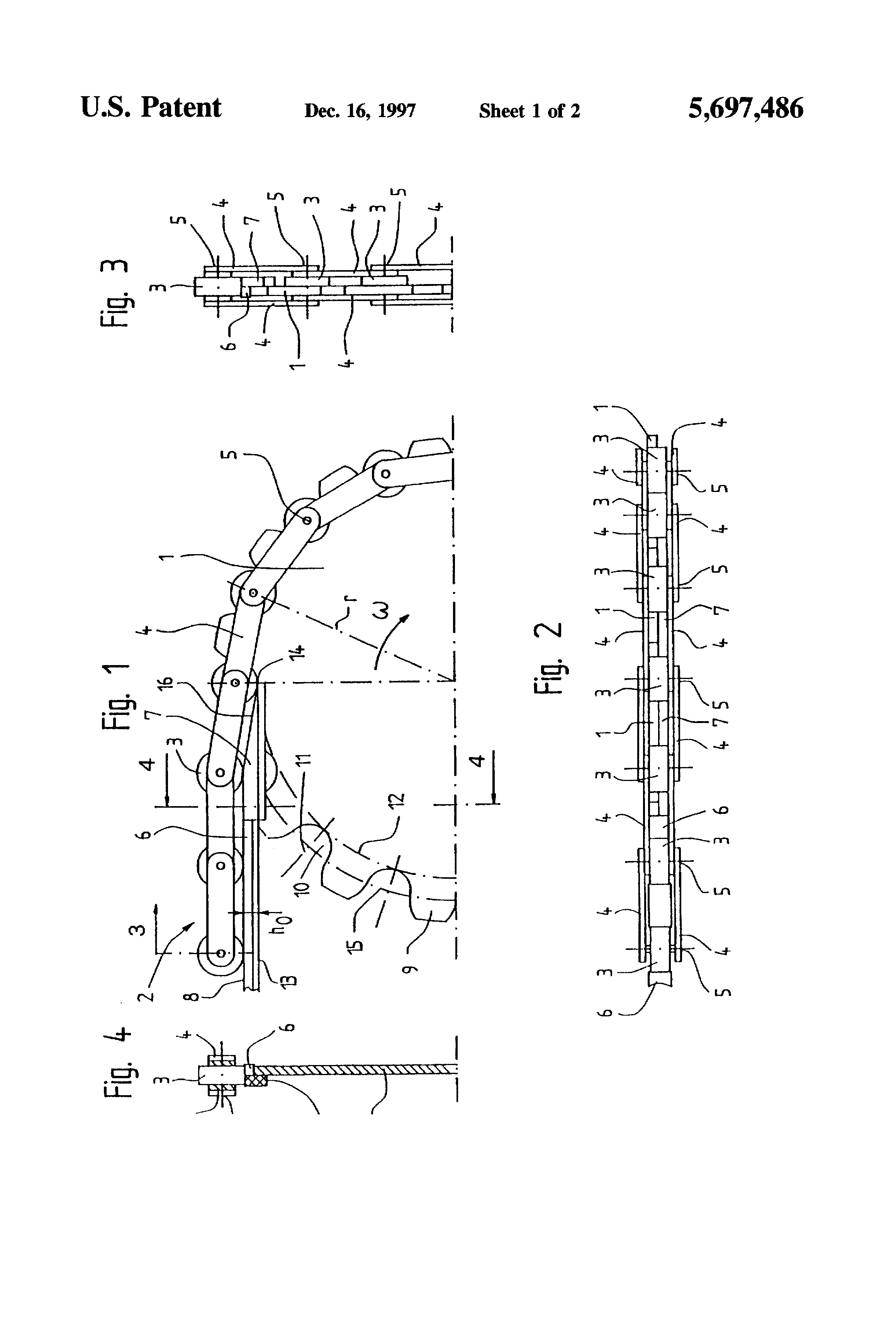 Patent Us5697486 Device For The Guidance Of An Endless Belt Escalator Schematic Drawing