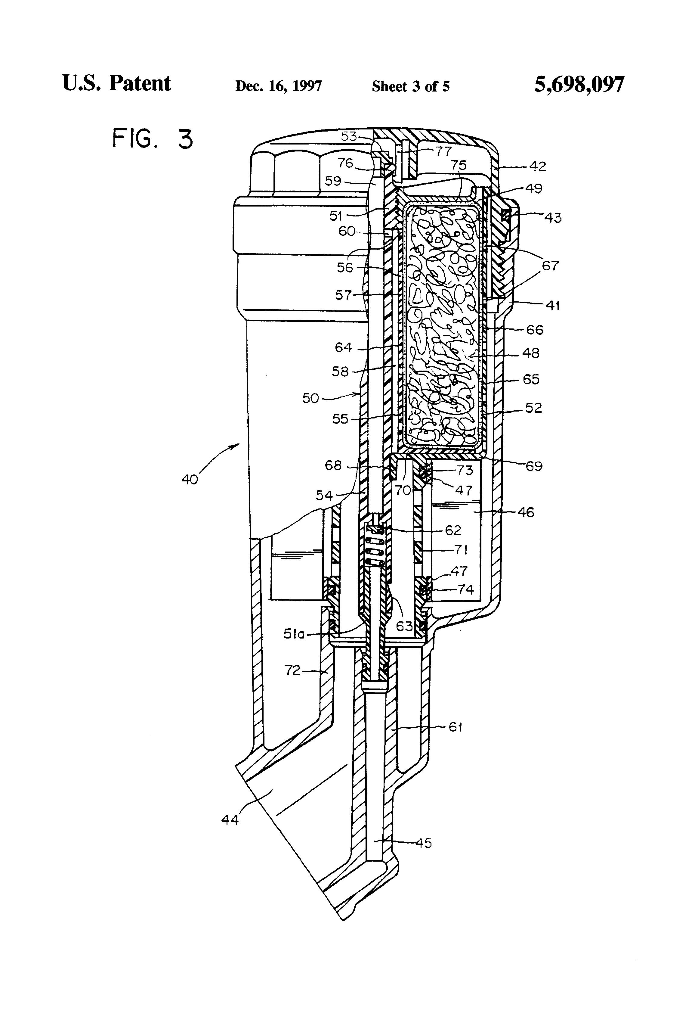 patent us5698097