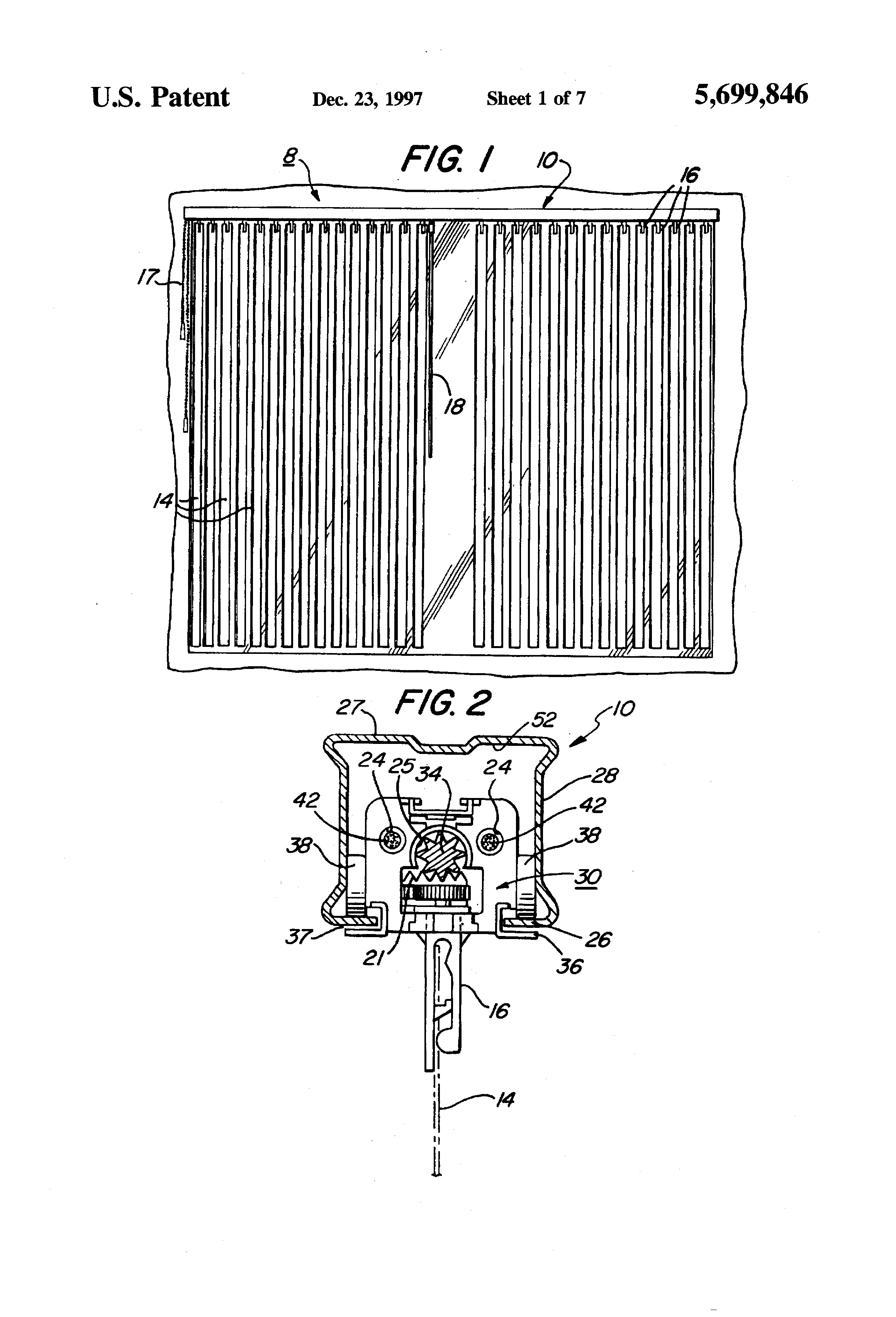 Patent Us5699846 Wand Controlled Split Draw Vertical