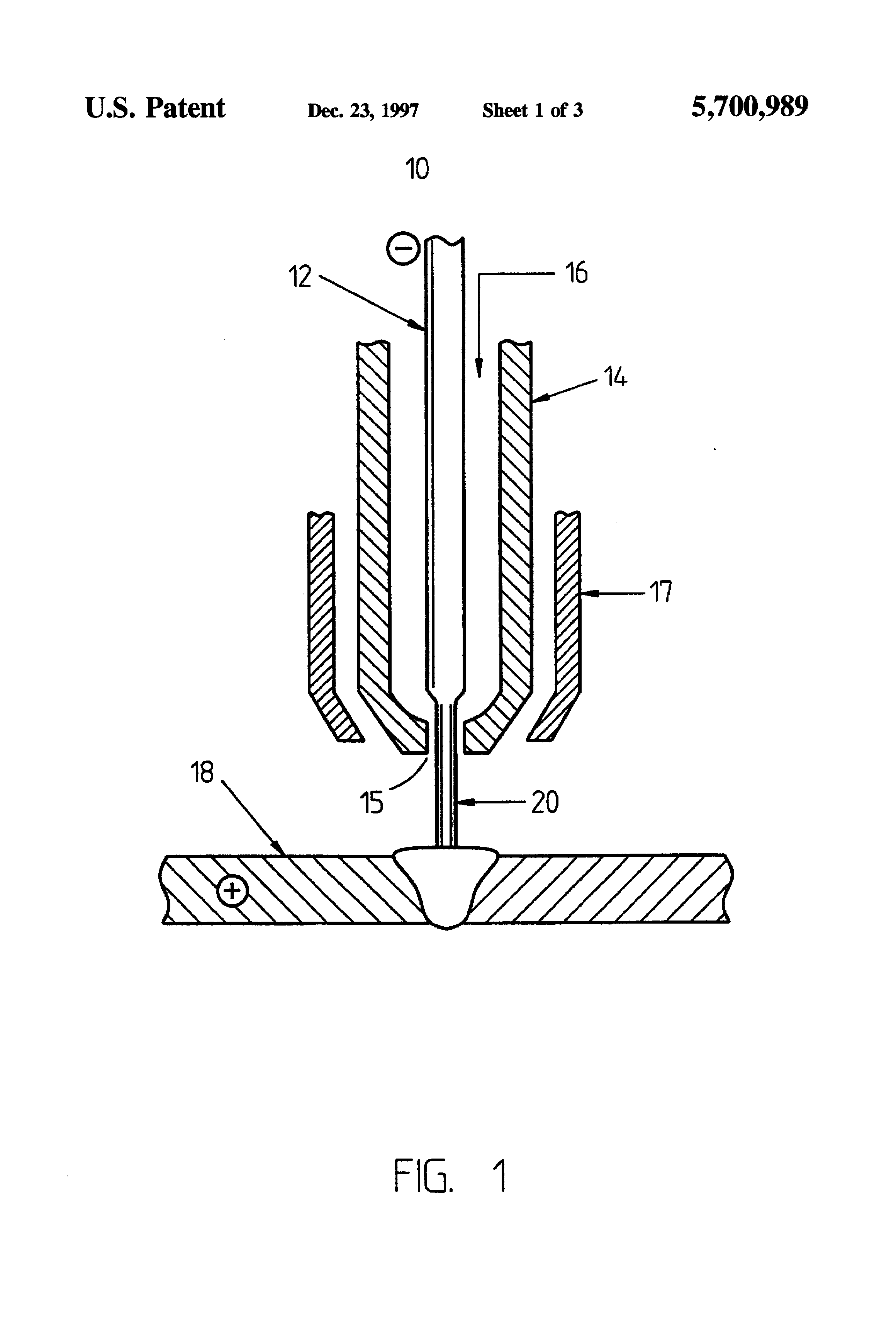 Patent Us5700989 Combined Laser And Plasma Arc Welding Torch Diagram Of Drawing