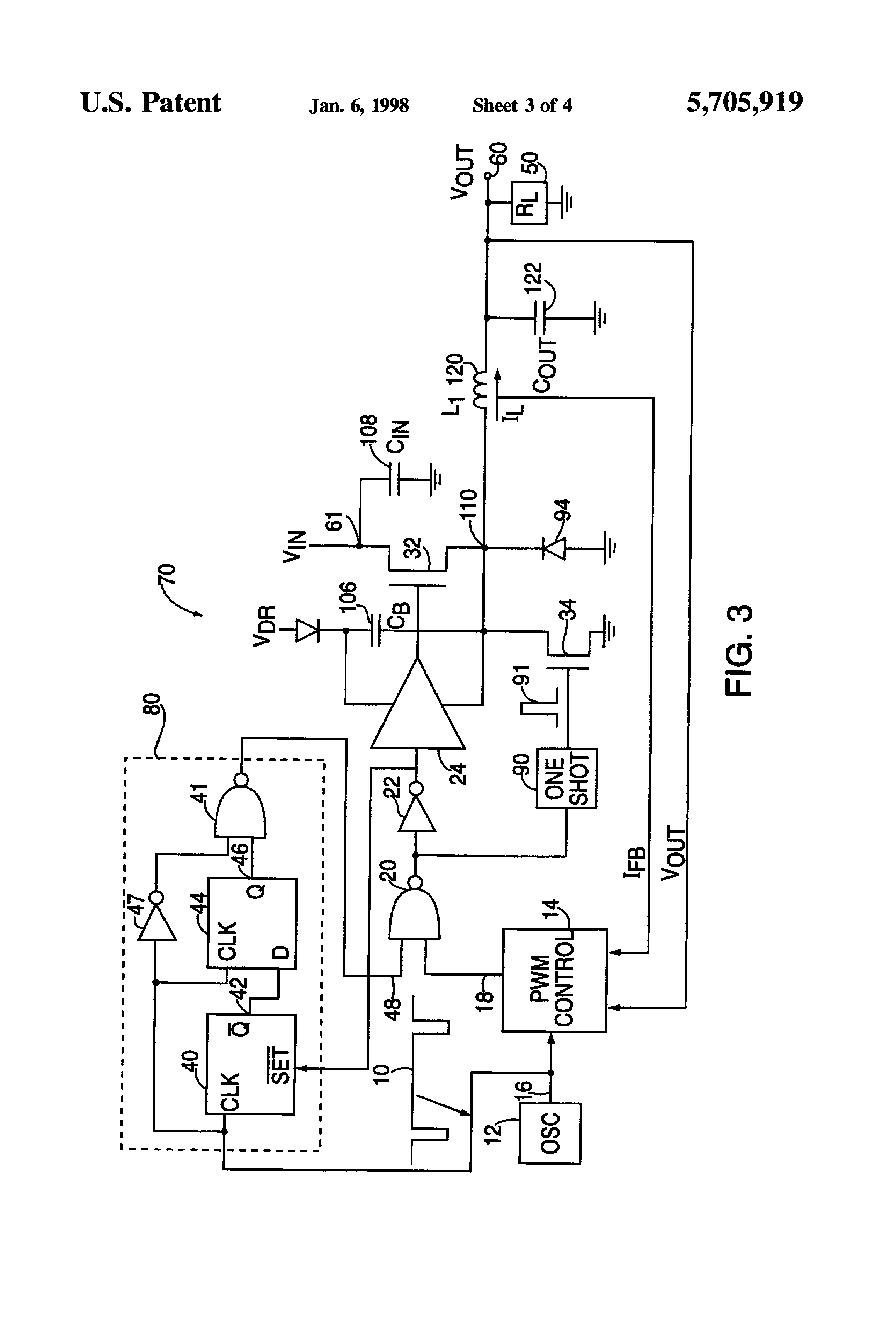 Patent Us5705919 Low Drop Out Switching Regulator Architecture Ldo Voltage Using Discrete Semiconductors Drawing