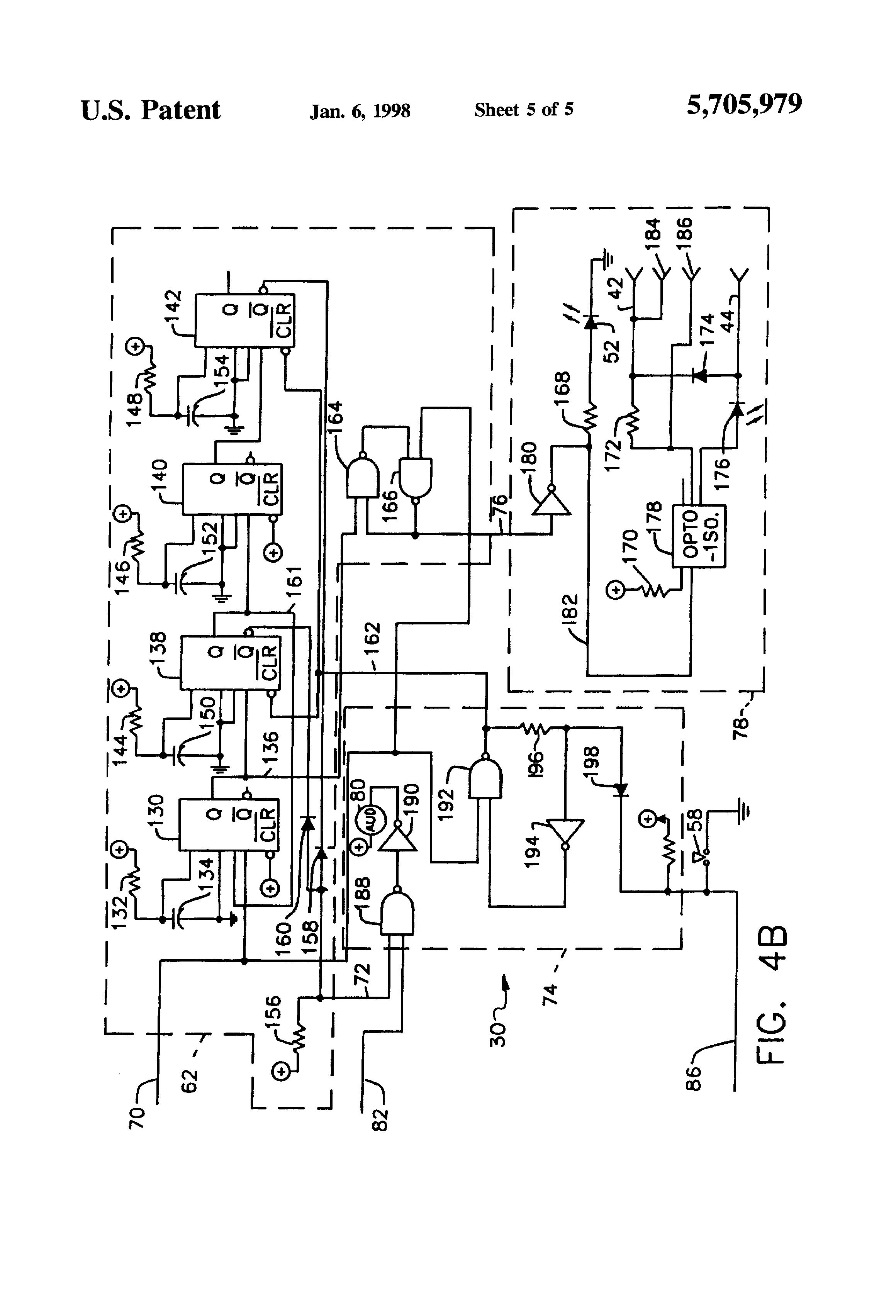 patent us5705979  alarm panel interface