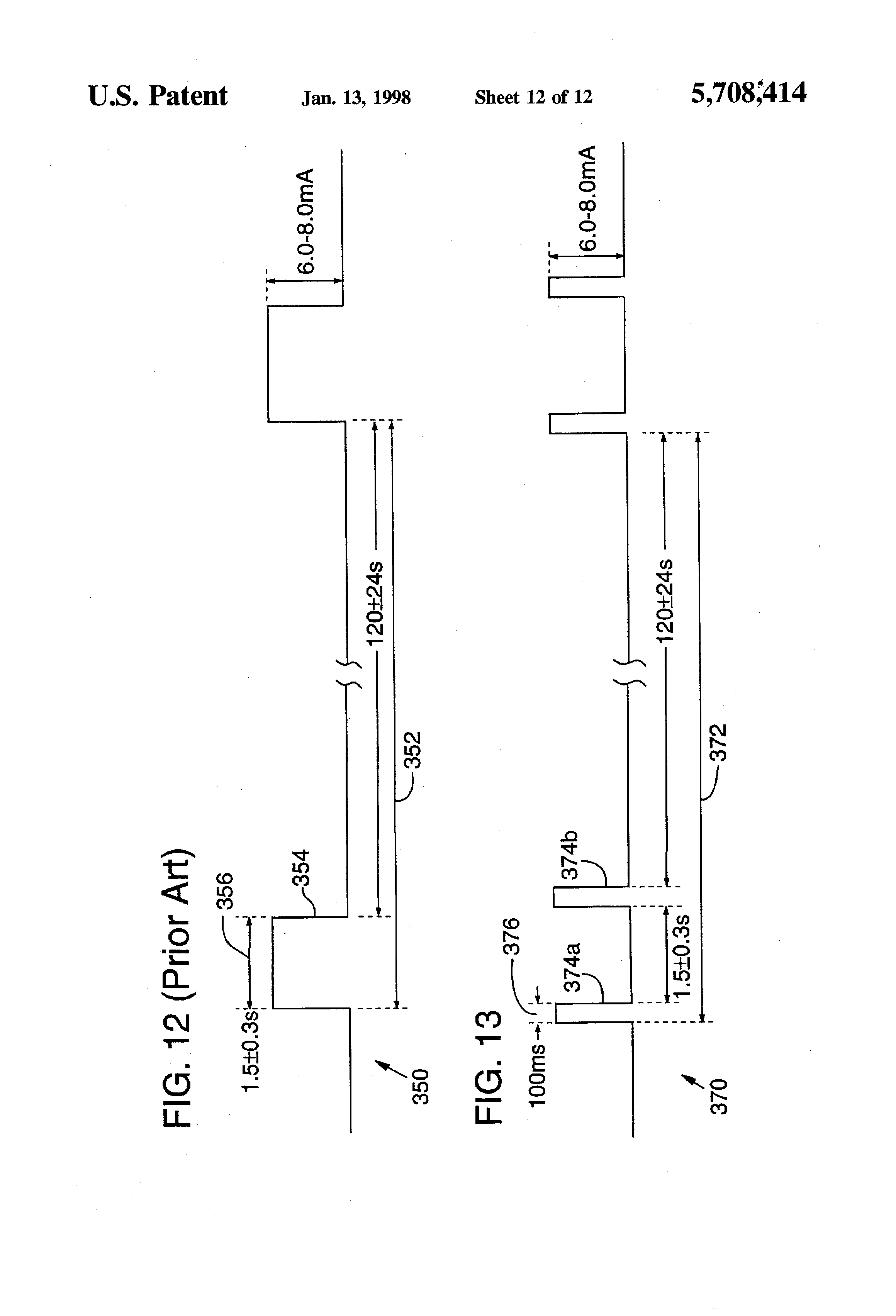 Patente Us5708414 Sensitivity Fault Indication Technique Gentex 511 Wiring Diagram Patent Drawing