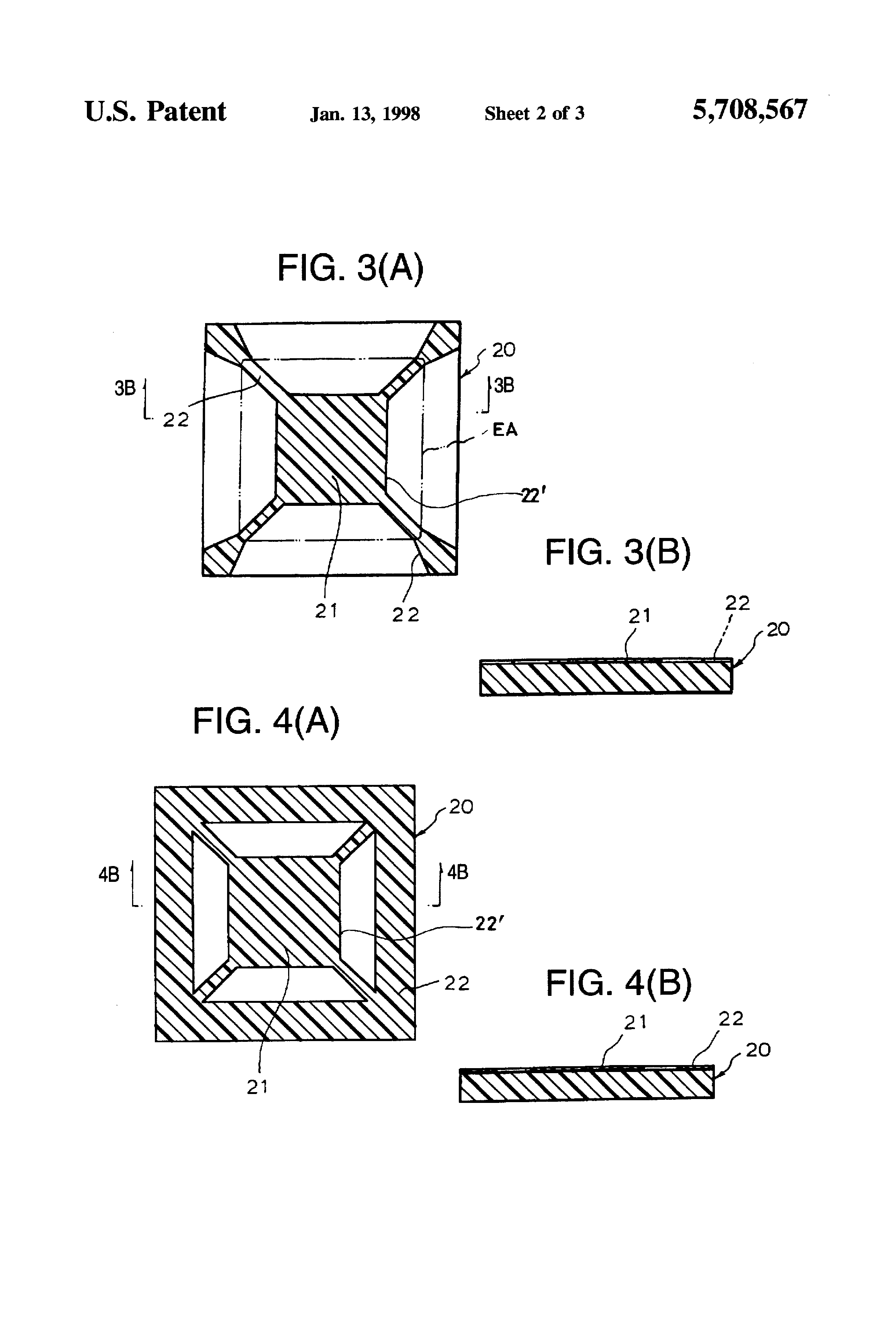 patent us5708567 - ball grid array semiconductor package with ring-type heat sink