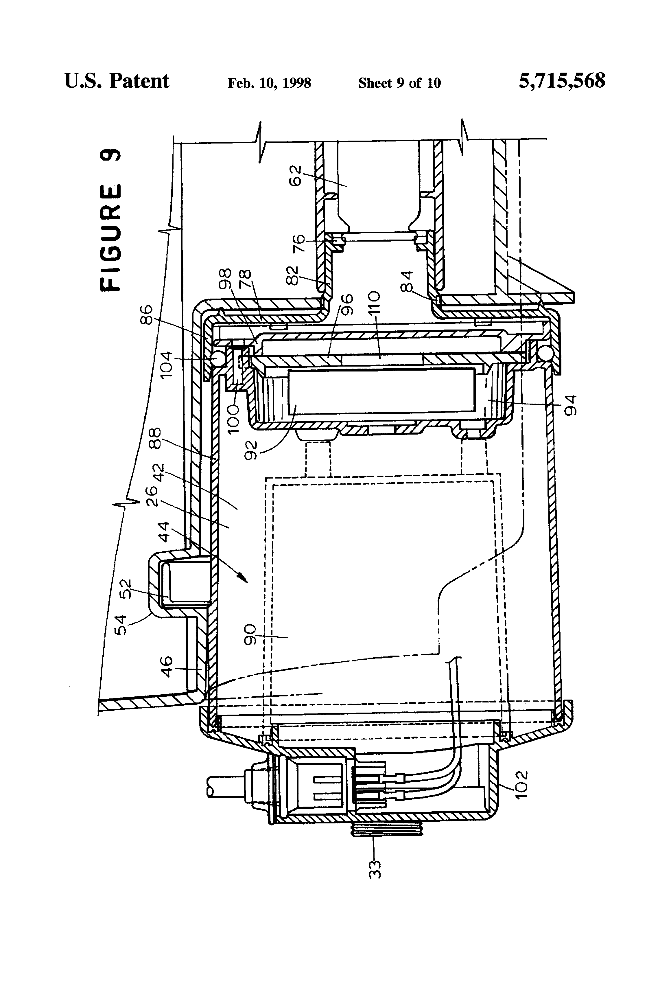 Patent Us5715568 Vacuum Apparatus Having A Pump For Discharging Diagram Parts List Model 1960 Bissellparts Wetcarpetcleaner Drawing