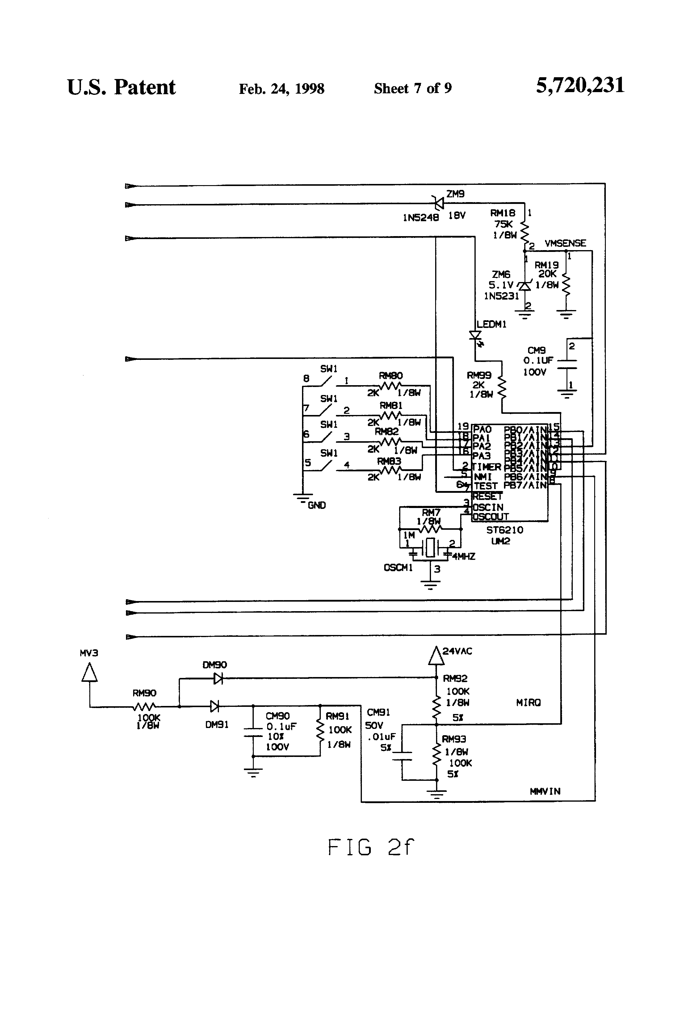brevet us5720231 induced draft fan control for use gas patent drawing