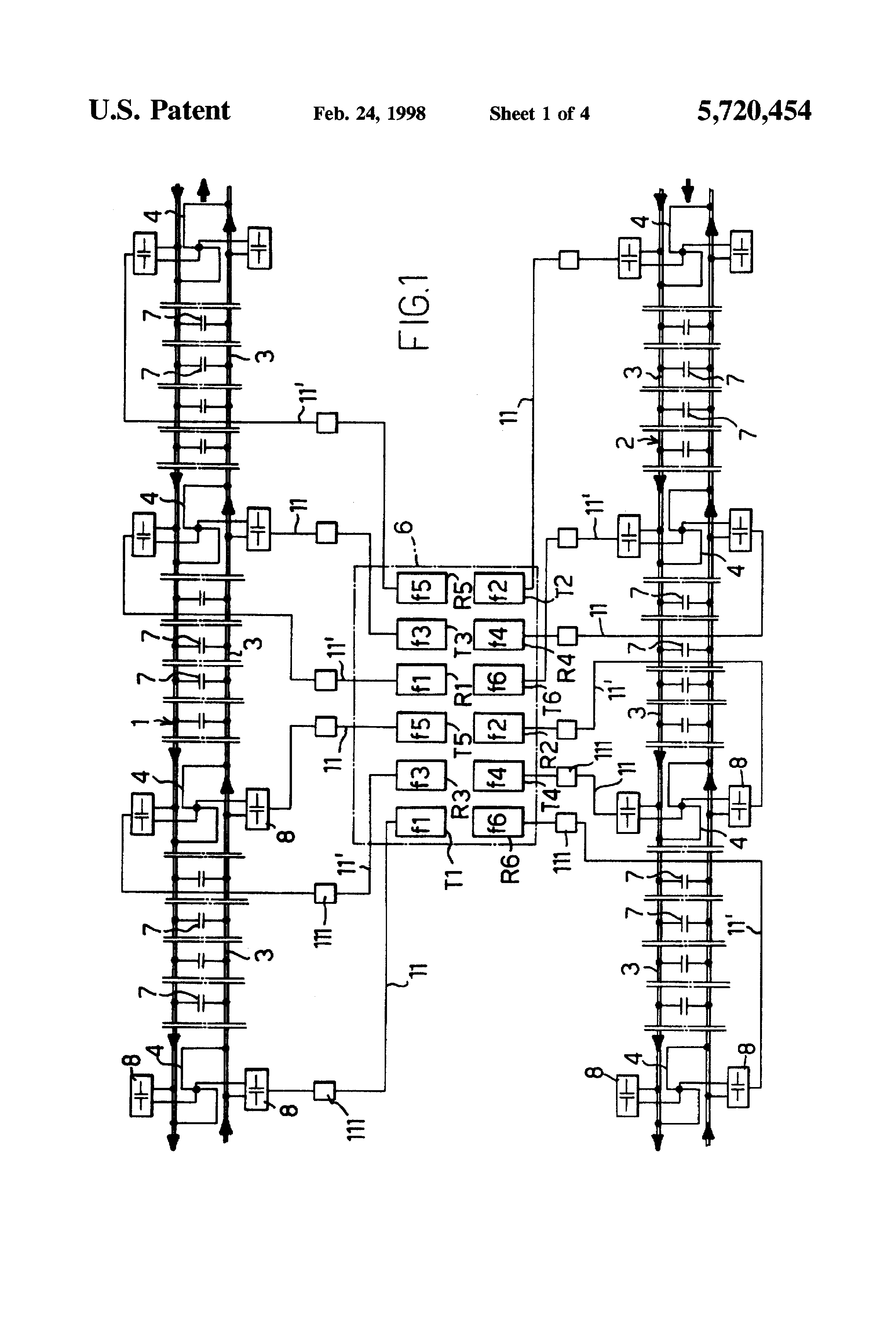 Patent Us5720454 Audiofrequency Track Circuit With Data Make A Best Tracking Transmitter Diagram Drawing