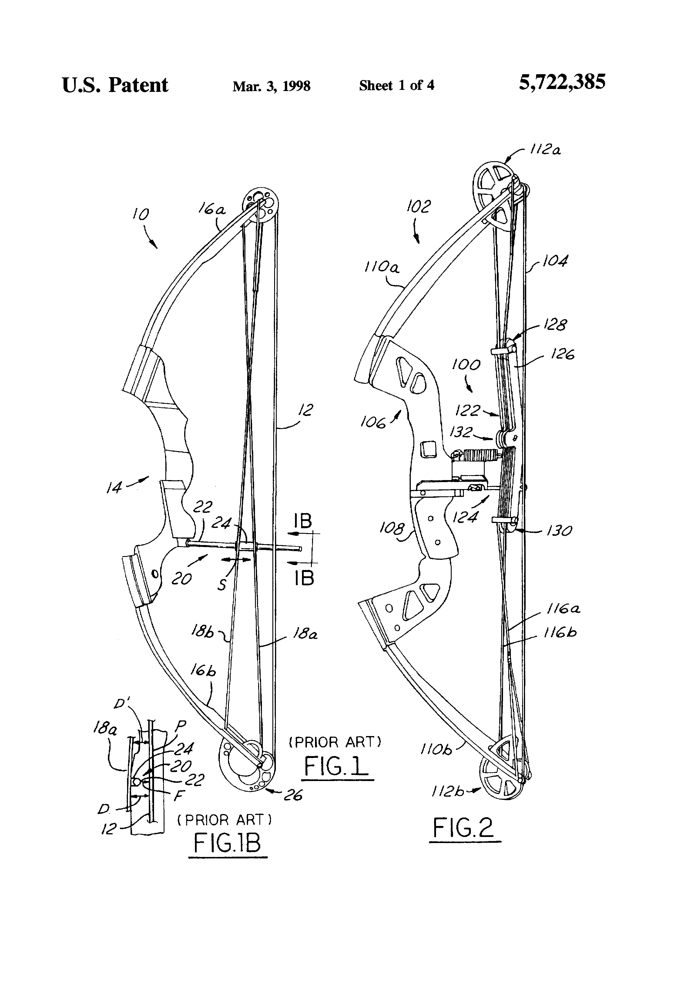 Patent Us5722385 Buss Cable Positioner For Compound Bows