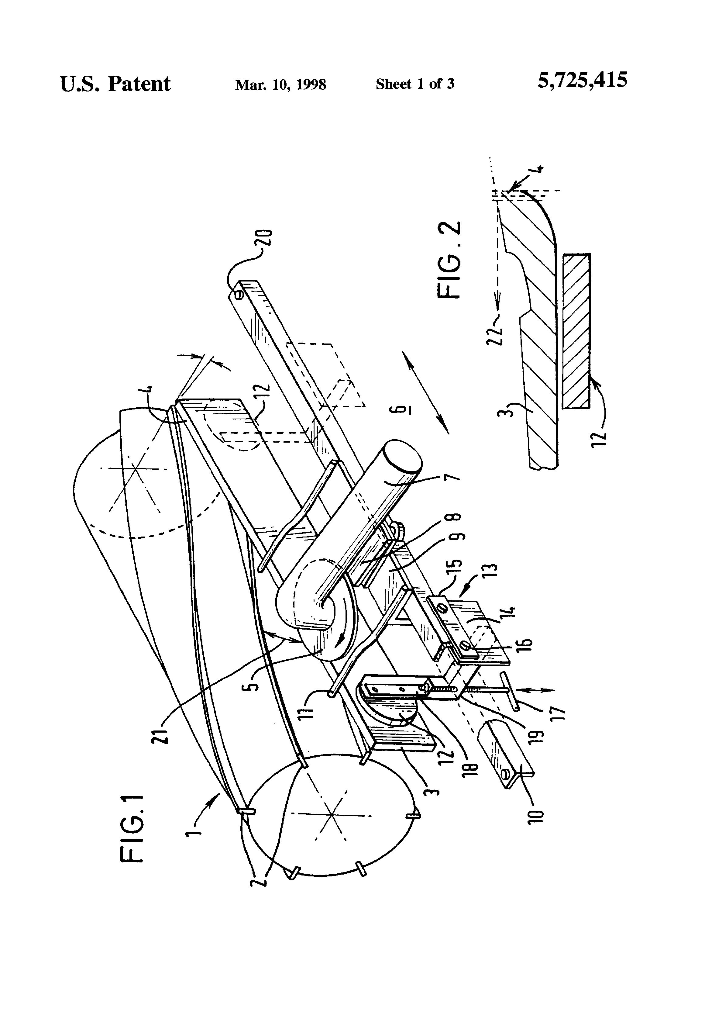 براءة الاختراع US5725415 - Grinding machine and method of