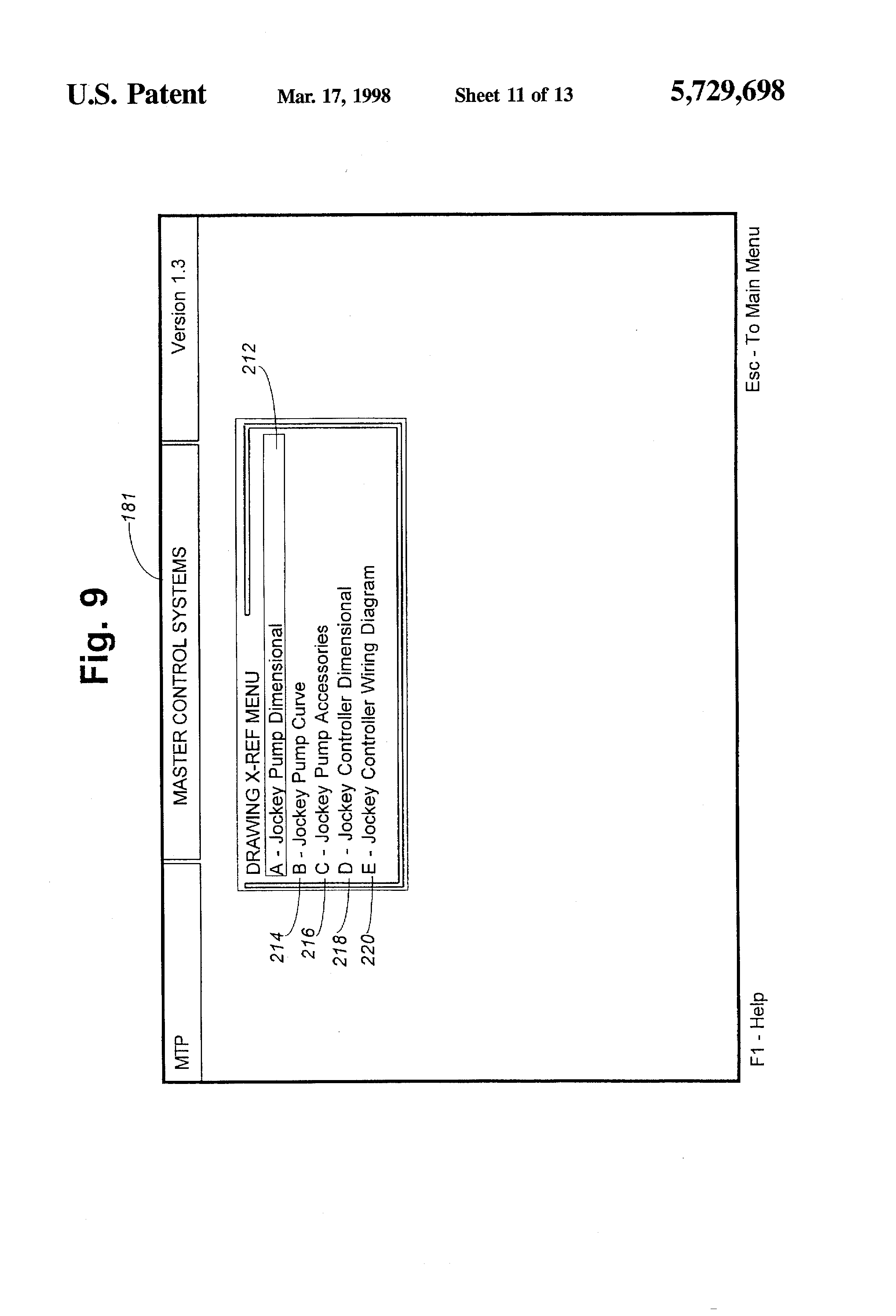 Patent US5729698 Fire pump data system for producing submittals – Jockey Pump Wiring Diagram