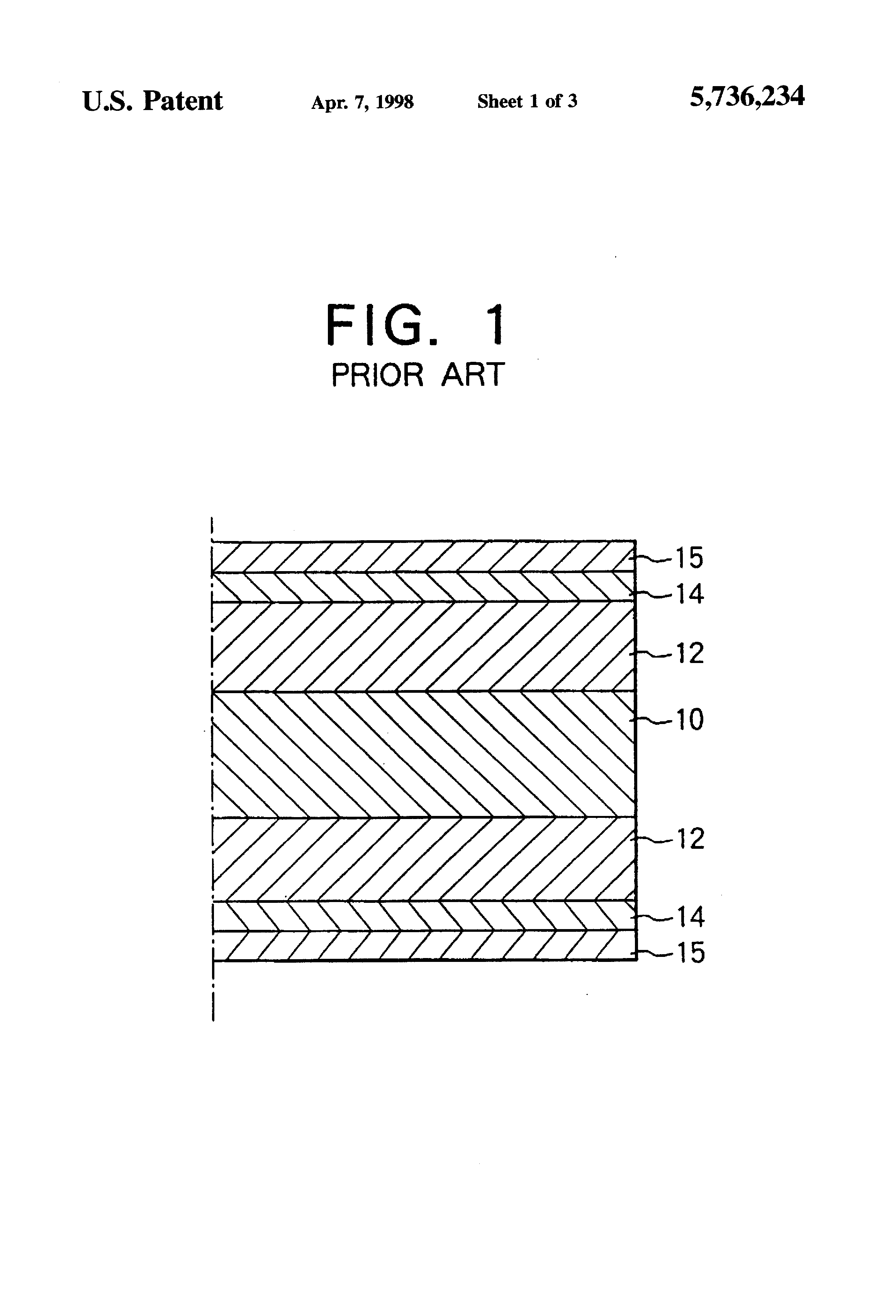 Patent Us5736234 Multilayer Printed Circuit Board Having Latticed Wiring Drawing