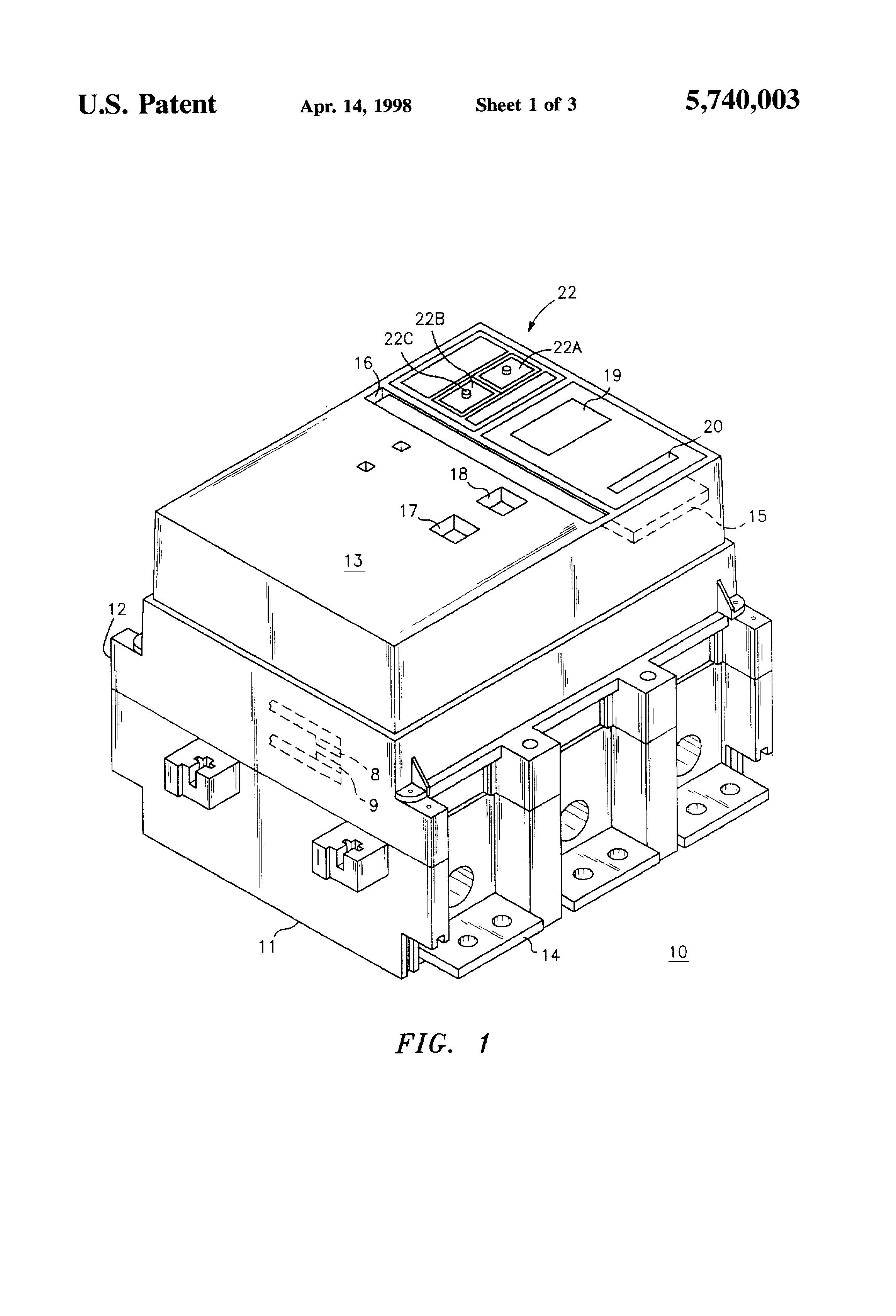 Patent Us5740003 Circuit Breaker Shunt Trip Accessory