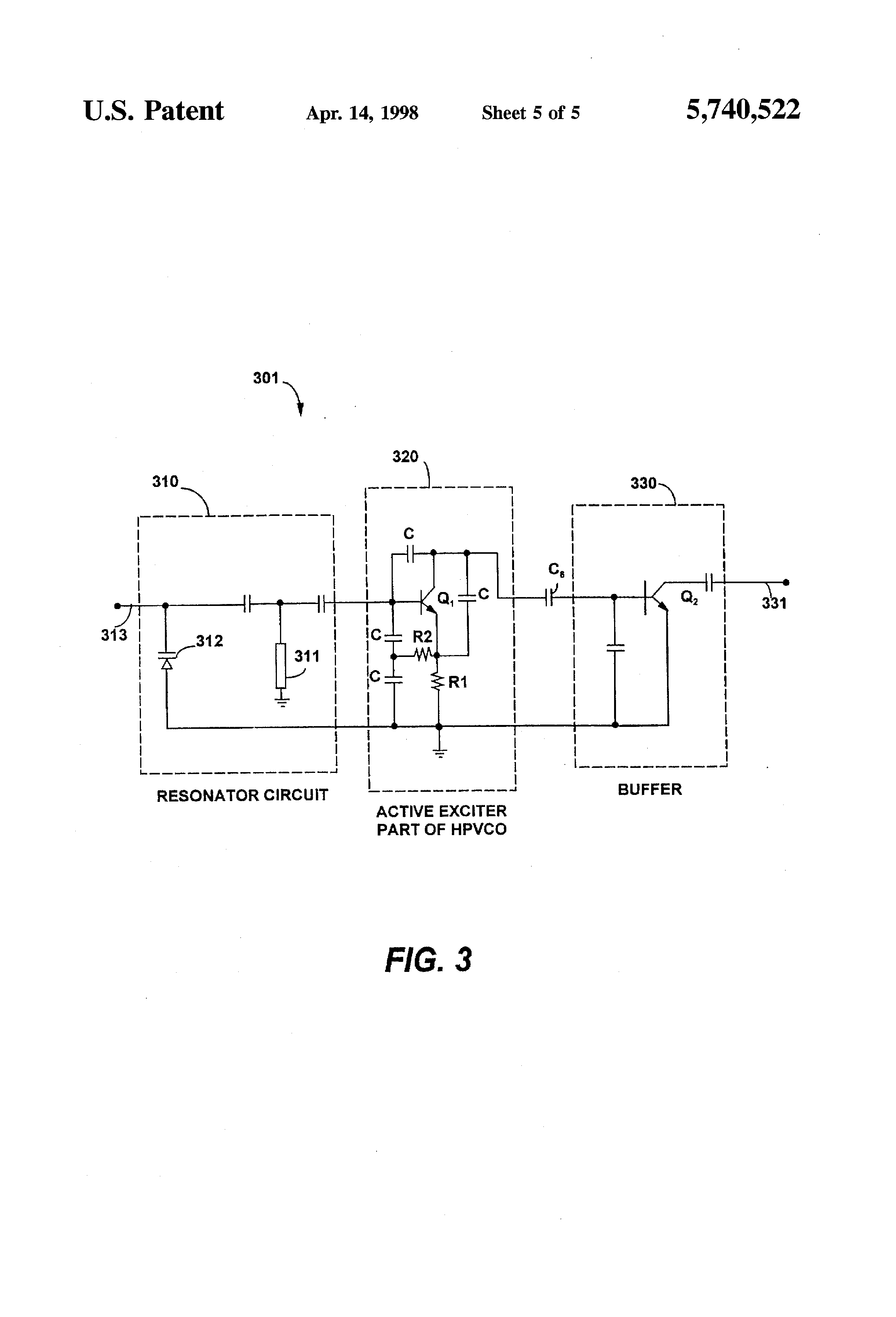 Patent Us5740522 Method And Apparatus For Reducing Receive Band Boosting The Output Power Of Low Fm Broadcast Exciters Is Drawing