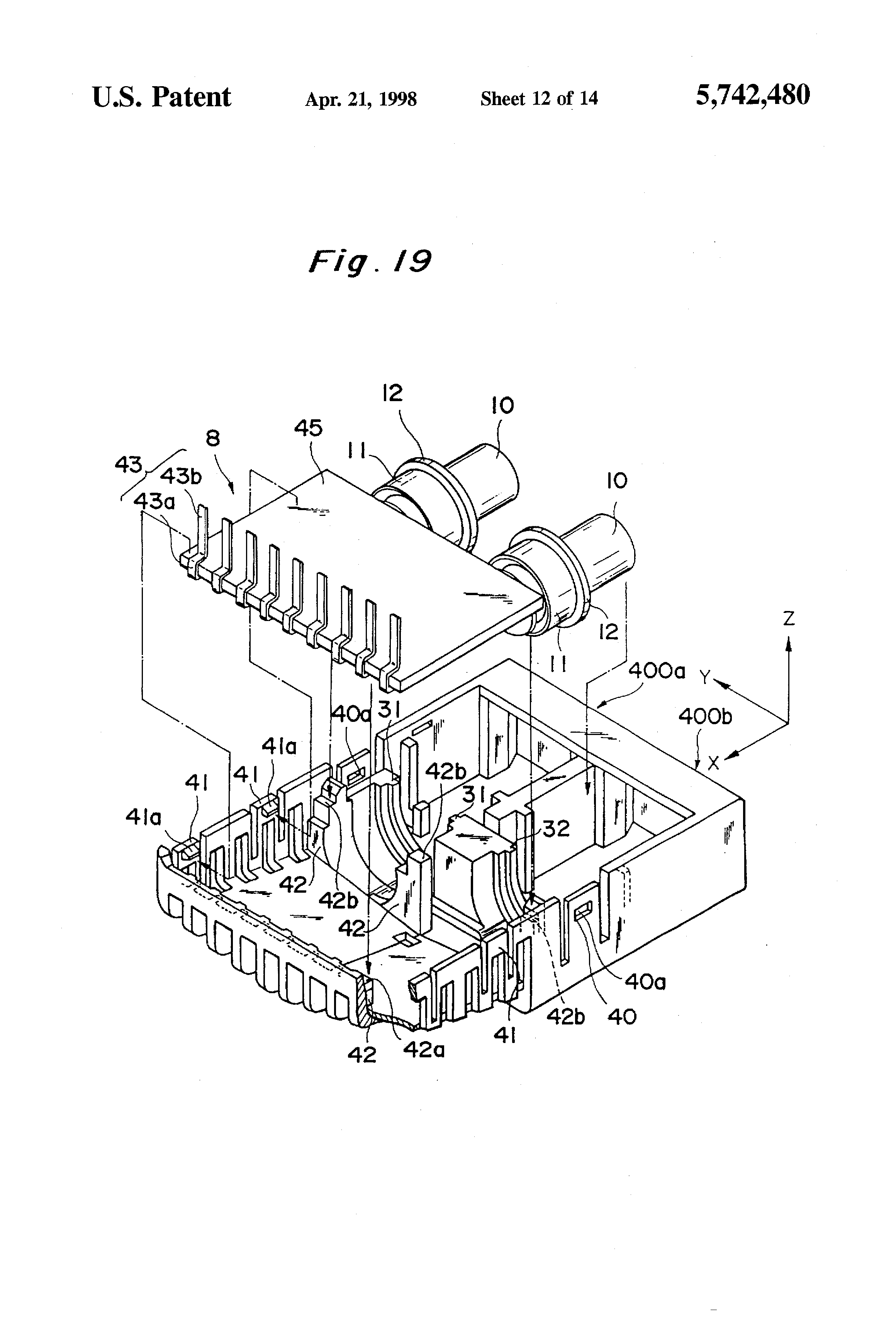 patent us5742480 - optical module circuit board having flexible structure
