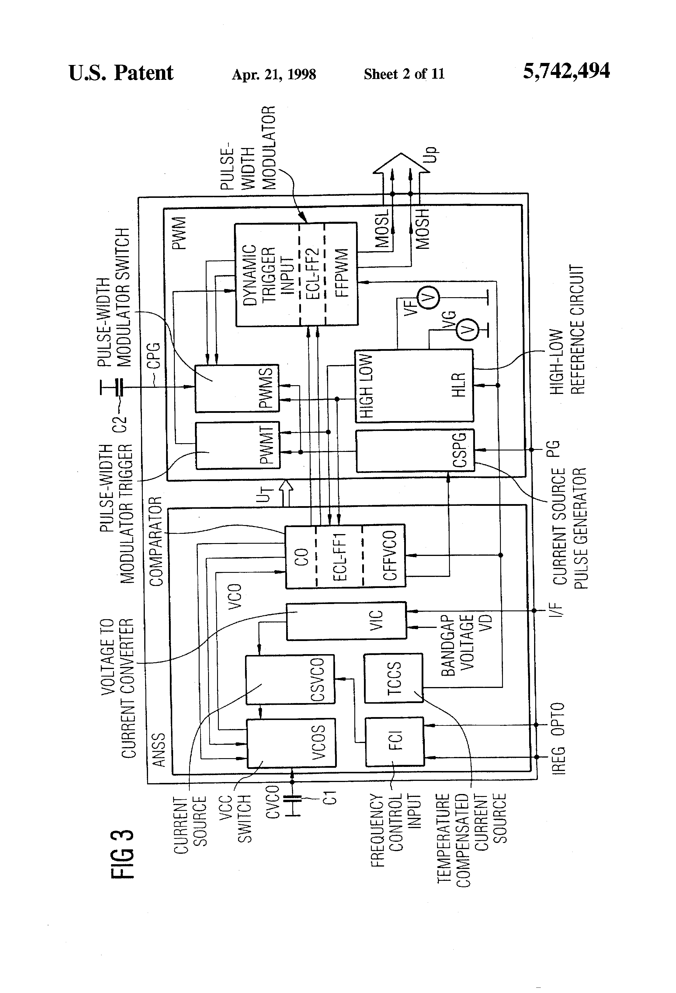 Patent Us5742494 Circuit Arrangement For Driving A Converter Following Is The Schematic Of Voltage Controlled Pwm Generator Drawing