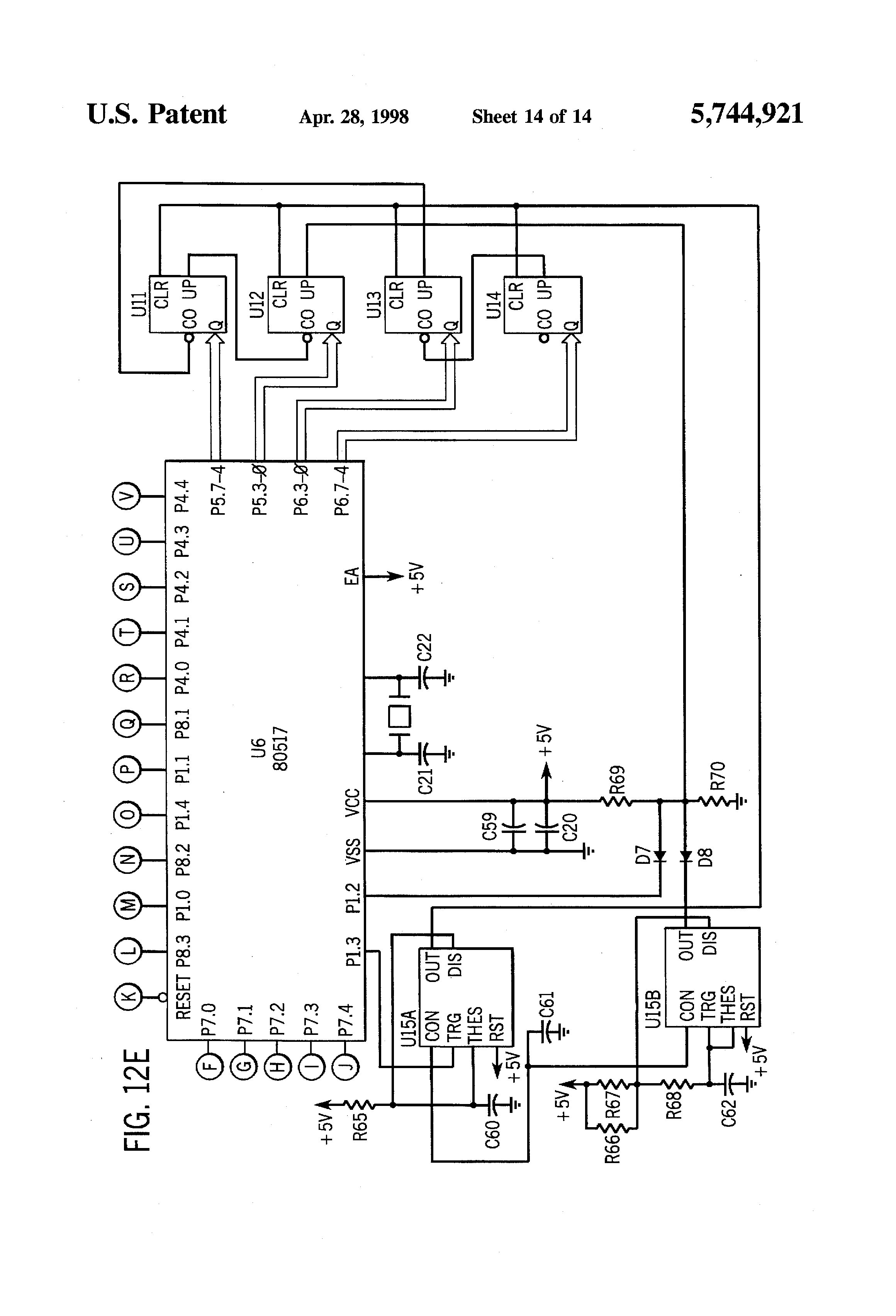 patent us5744921 - control circuit for five-phase brushless dc motor